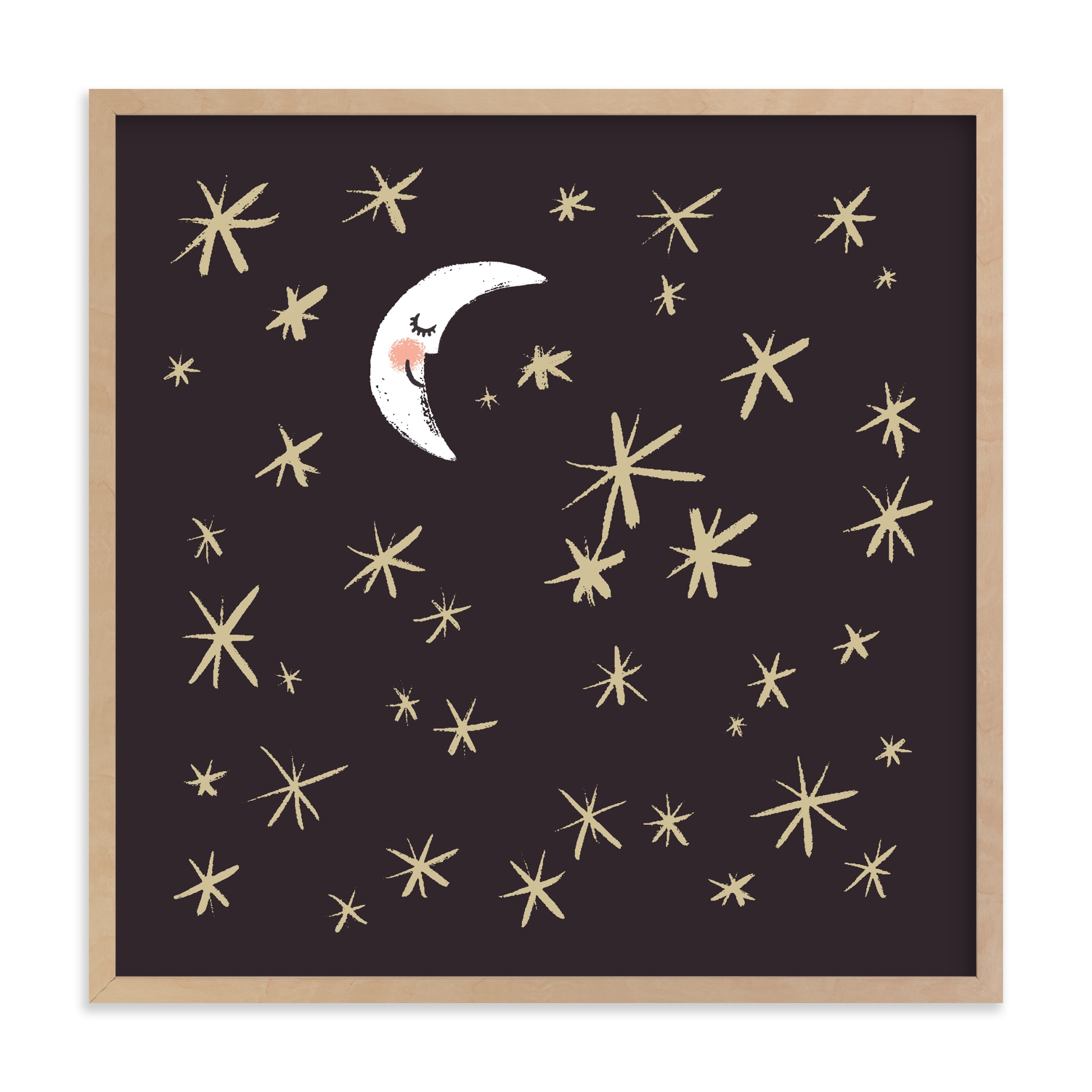 """Good Night Moon and Stars"" - Limited Edition Art Print by Patrice Horvath in beautiful frame options and a variety of sizes."