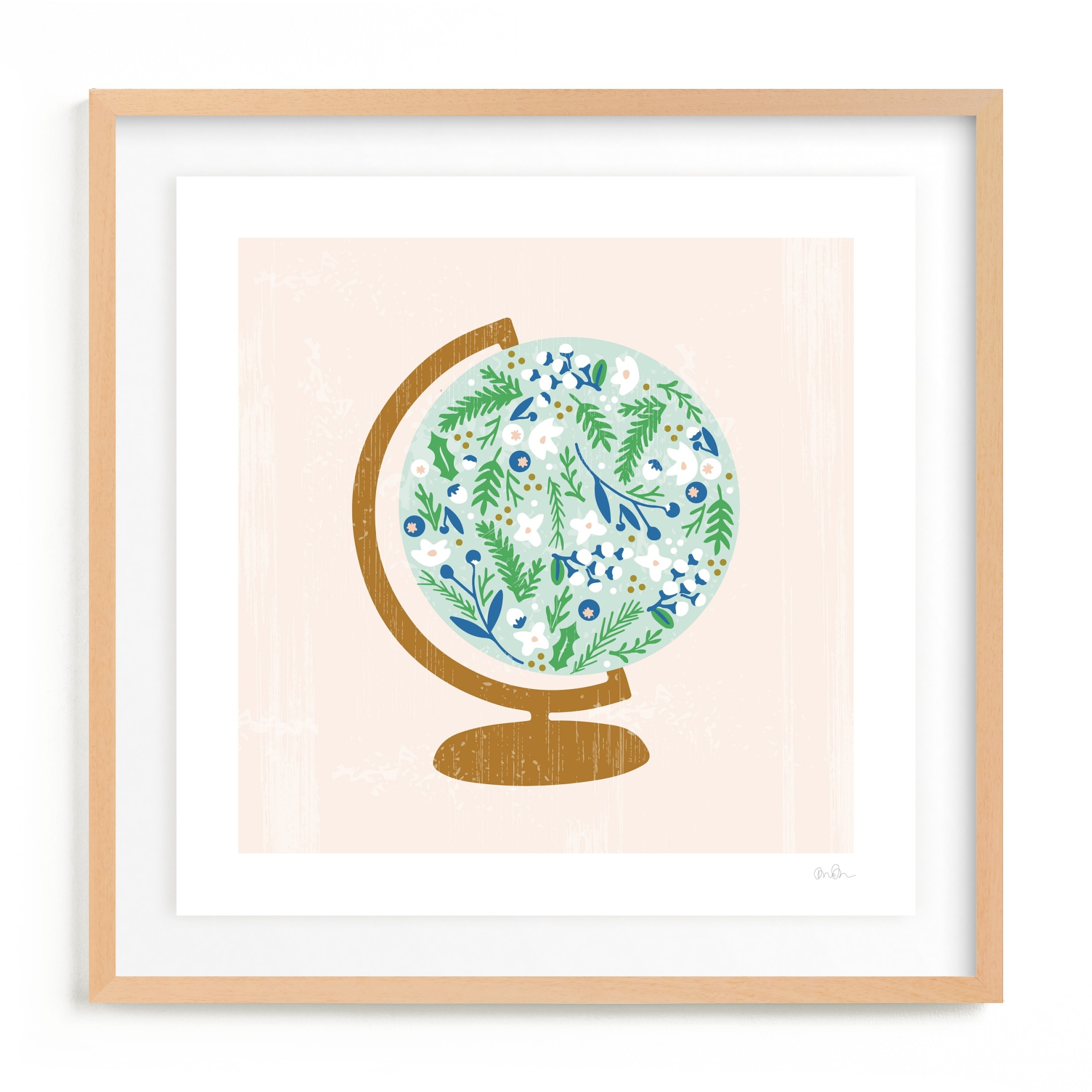 Global Flor Children's Art Print