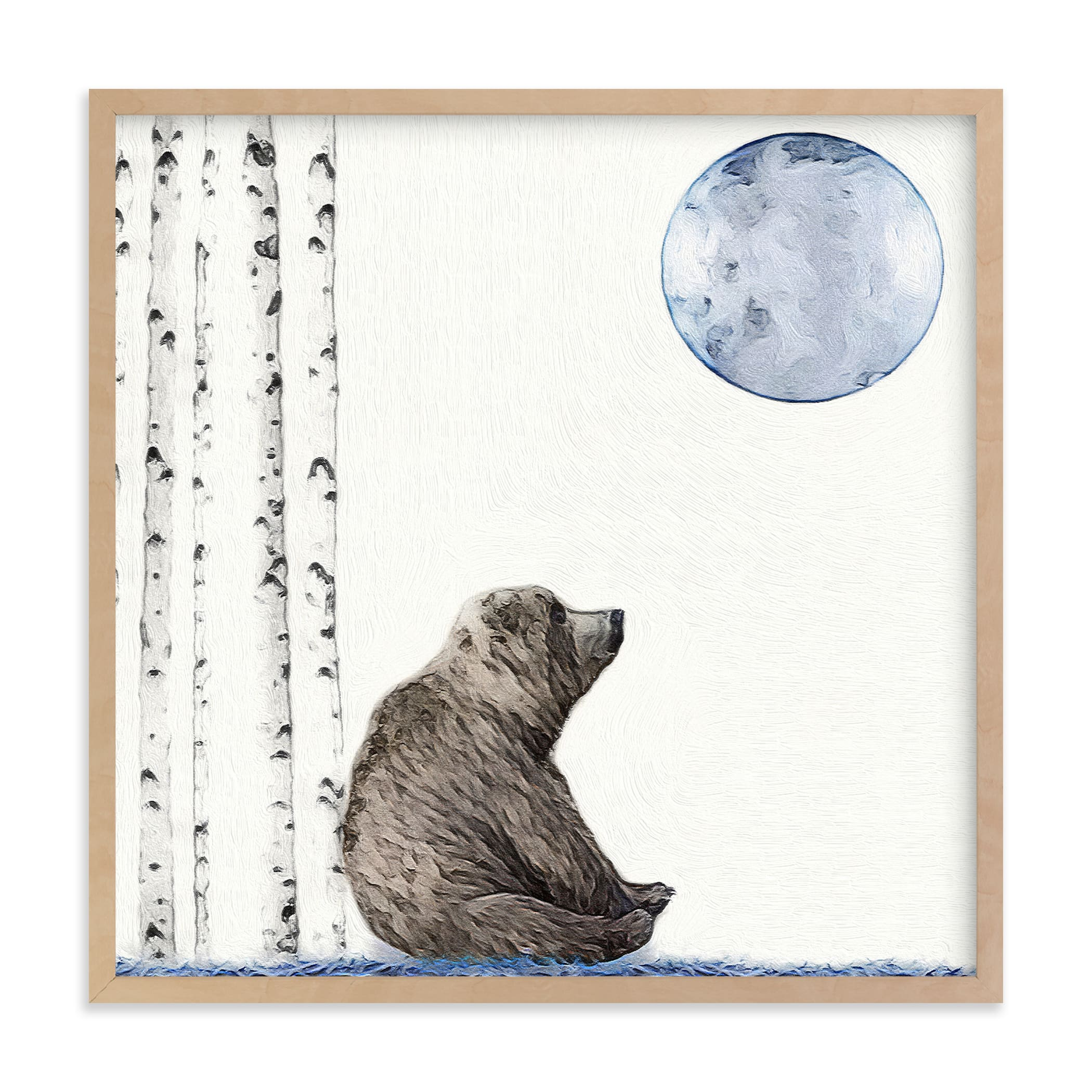 """Once upon a blue moon"" - Limited Edition Art Print by Maja Cunningham in beautiful frame options and a variety of sizes."