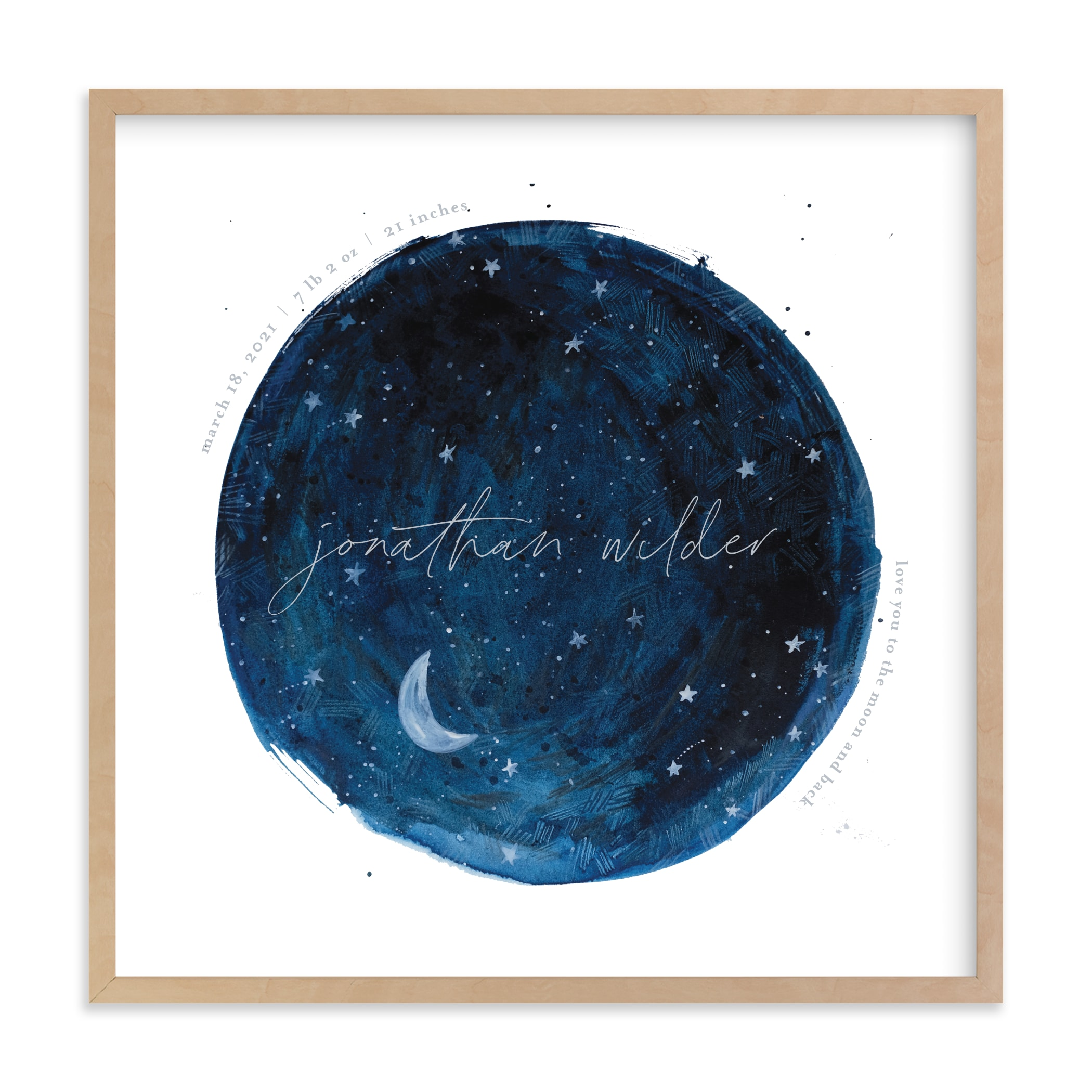 Lunar Nursery Custom Art Print