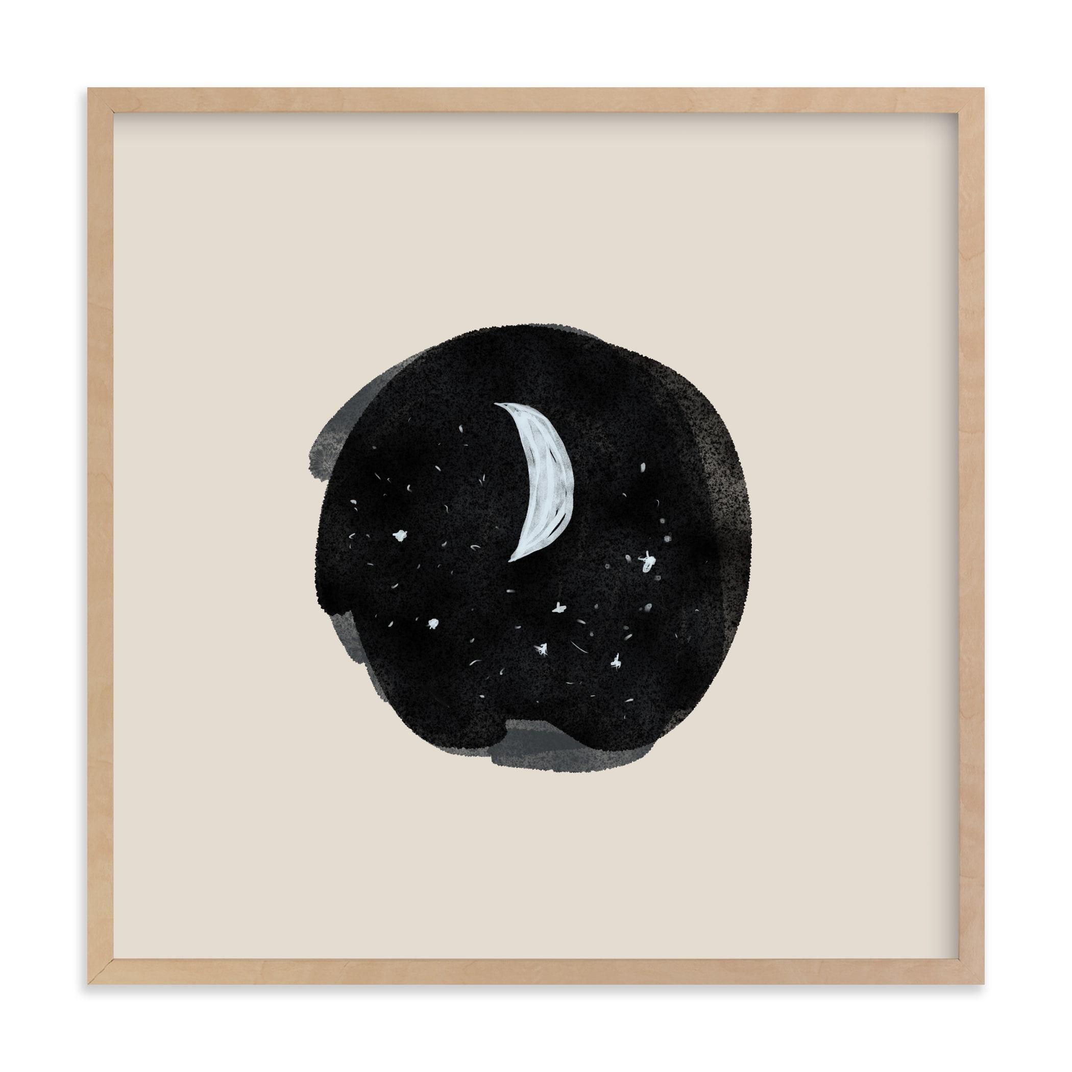 Little Moon Nursery Art Print