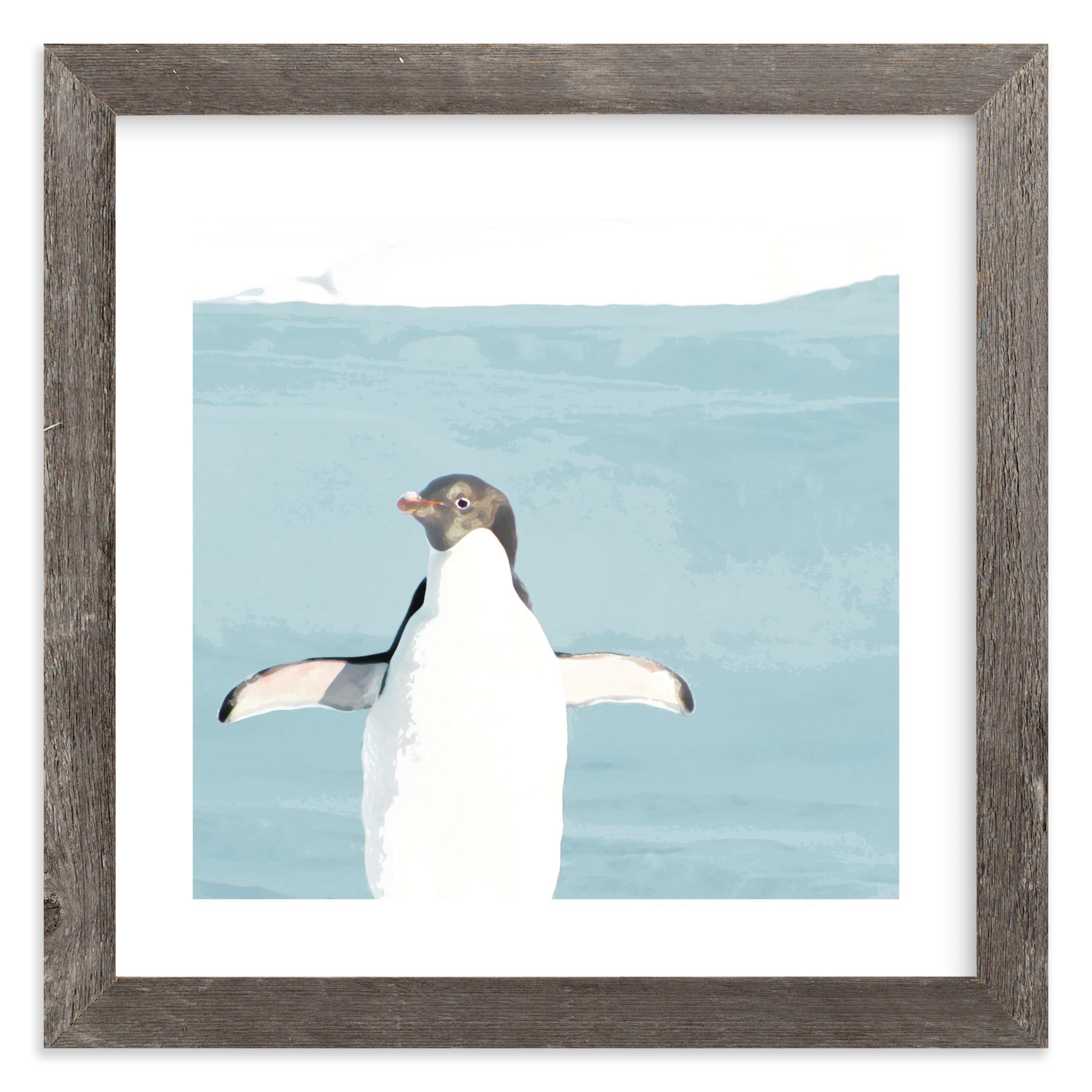 Naked Penguin Art Print