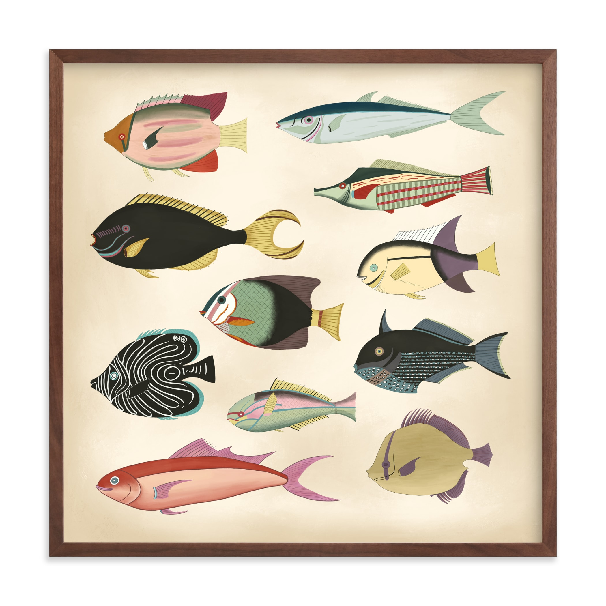 """Poissons No. 7"" by Jessie Burch in beautiful frame options and a variety of sizes."