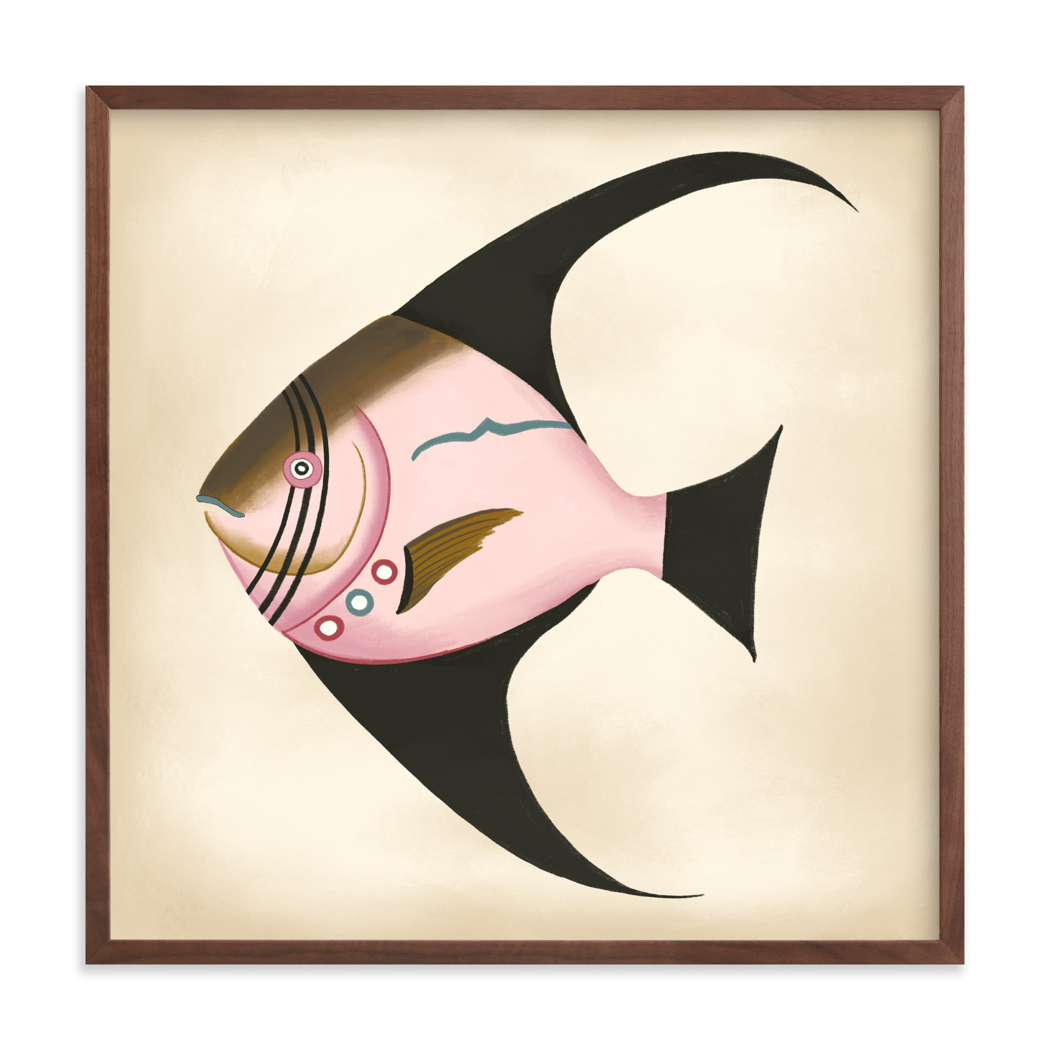 """""""Poissons No. 2"""" by Jessie Burch in beautiful frame options and a variety of sizes."""