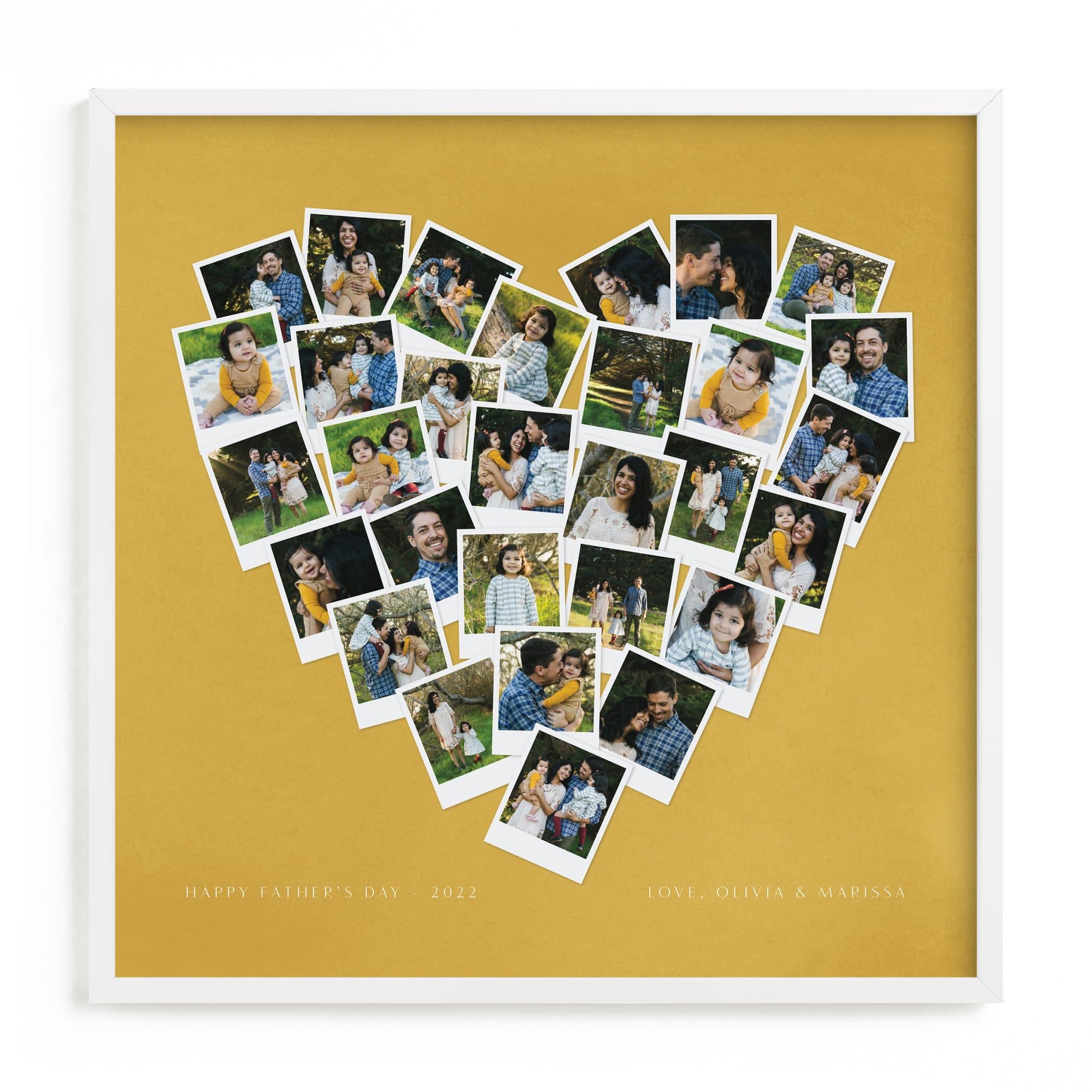 Painted Hues Heart Snapshot Mix® Warm Custom Photo Art Print