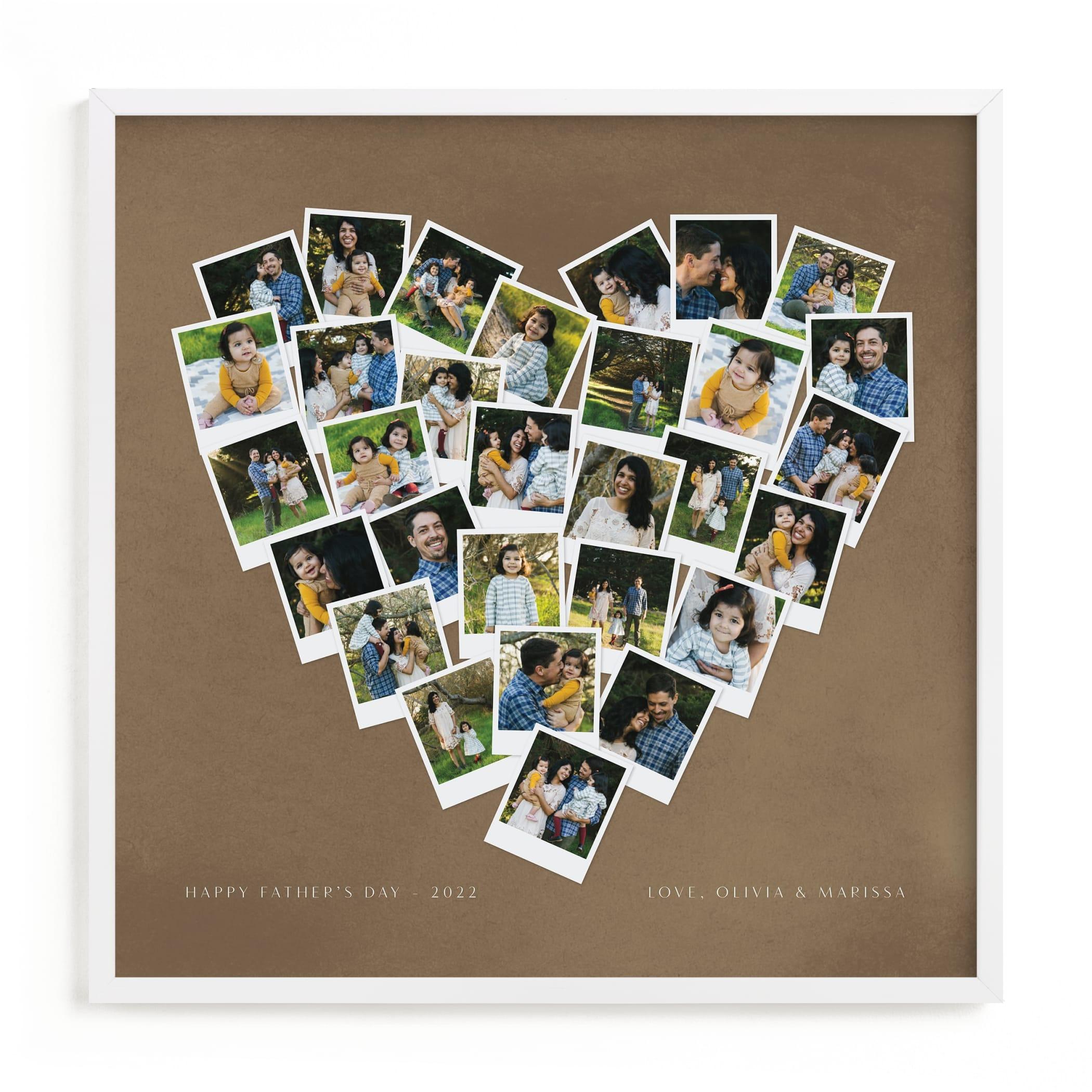 Painted Hues Heart Snapshot Mix Warm Custom Photo Art Print