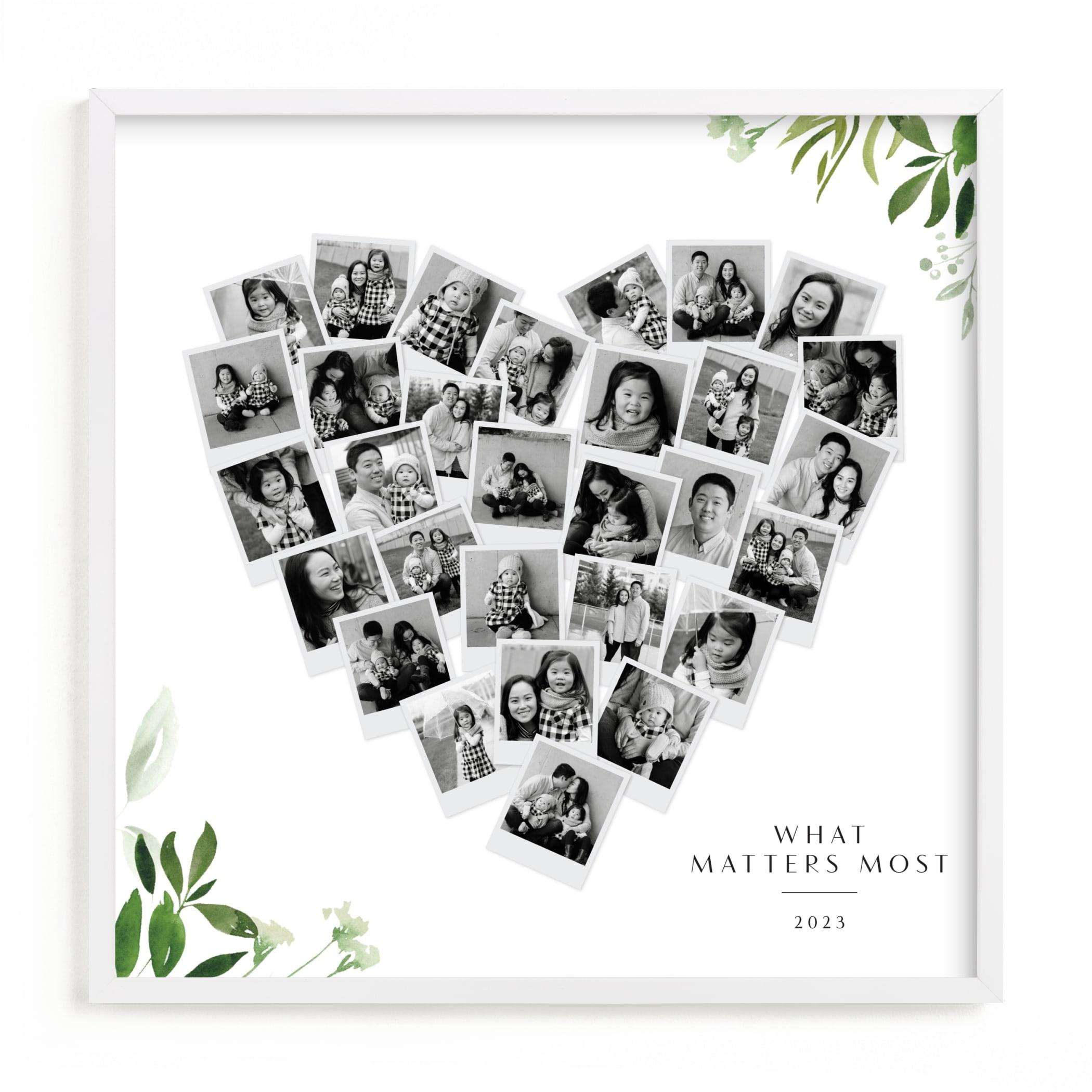 Floral Heart Snapshot Mix® Custom Photo Art Print