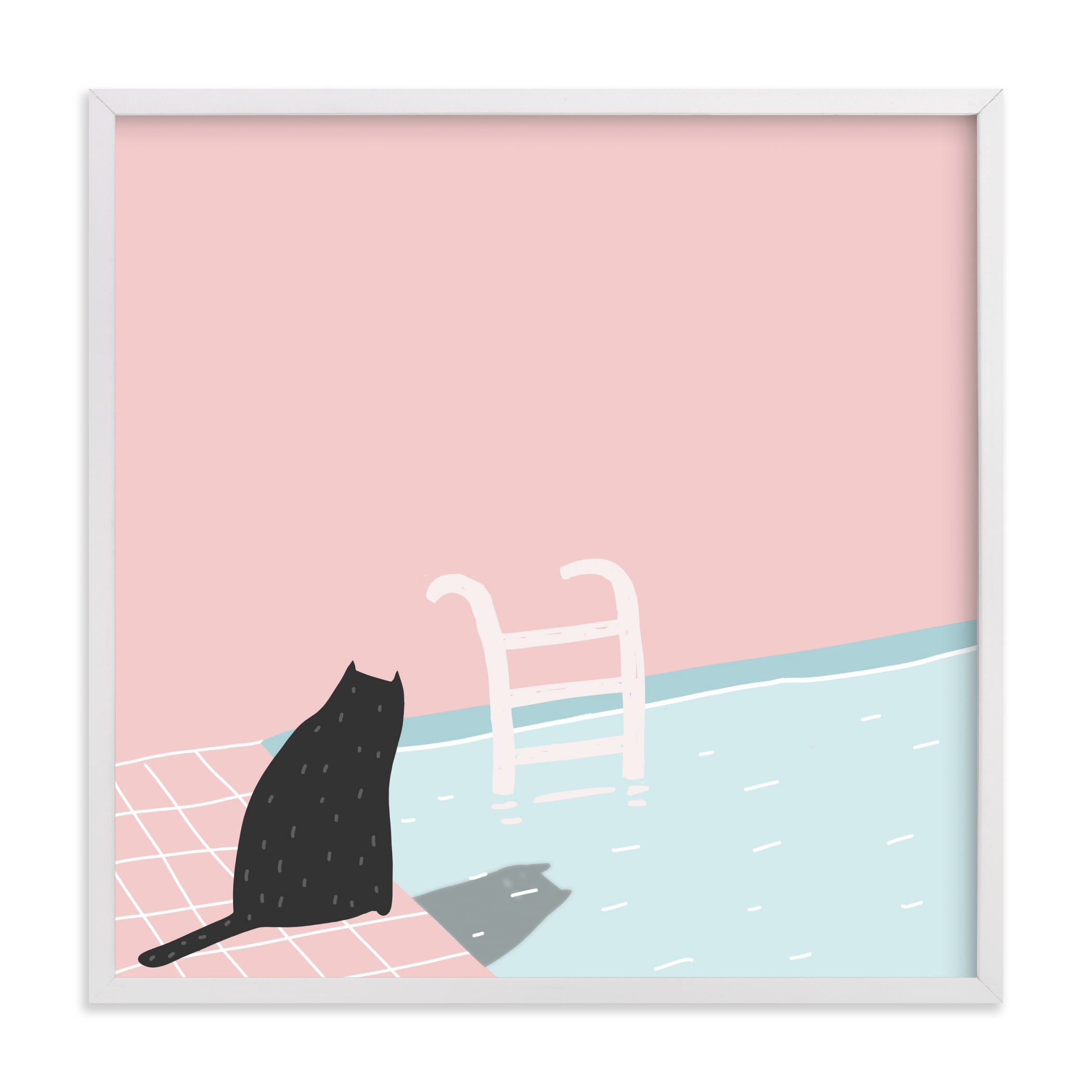"""""""pool series - two"""" - Limited Edition Art Print by Katja Ja in beautiful frame options and a variety of sizes."""