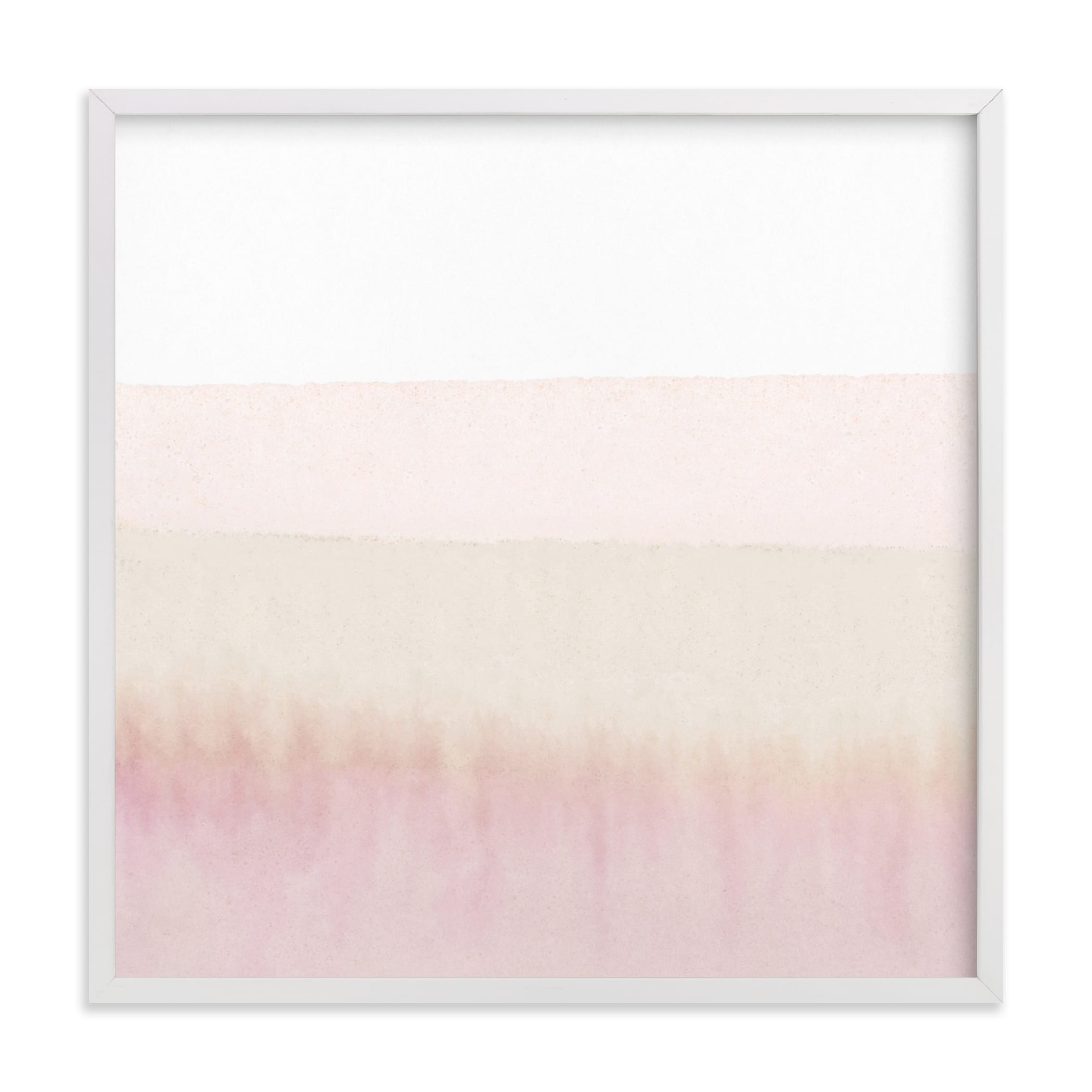 This is a white art by Sadie Holden called Sunup.