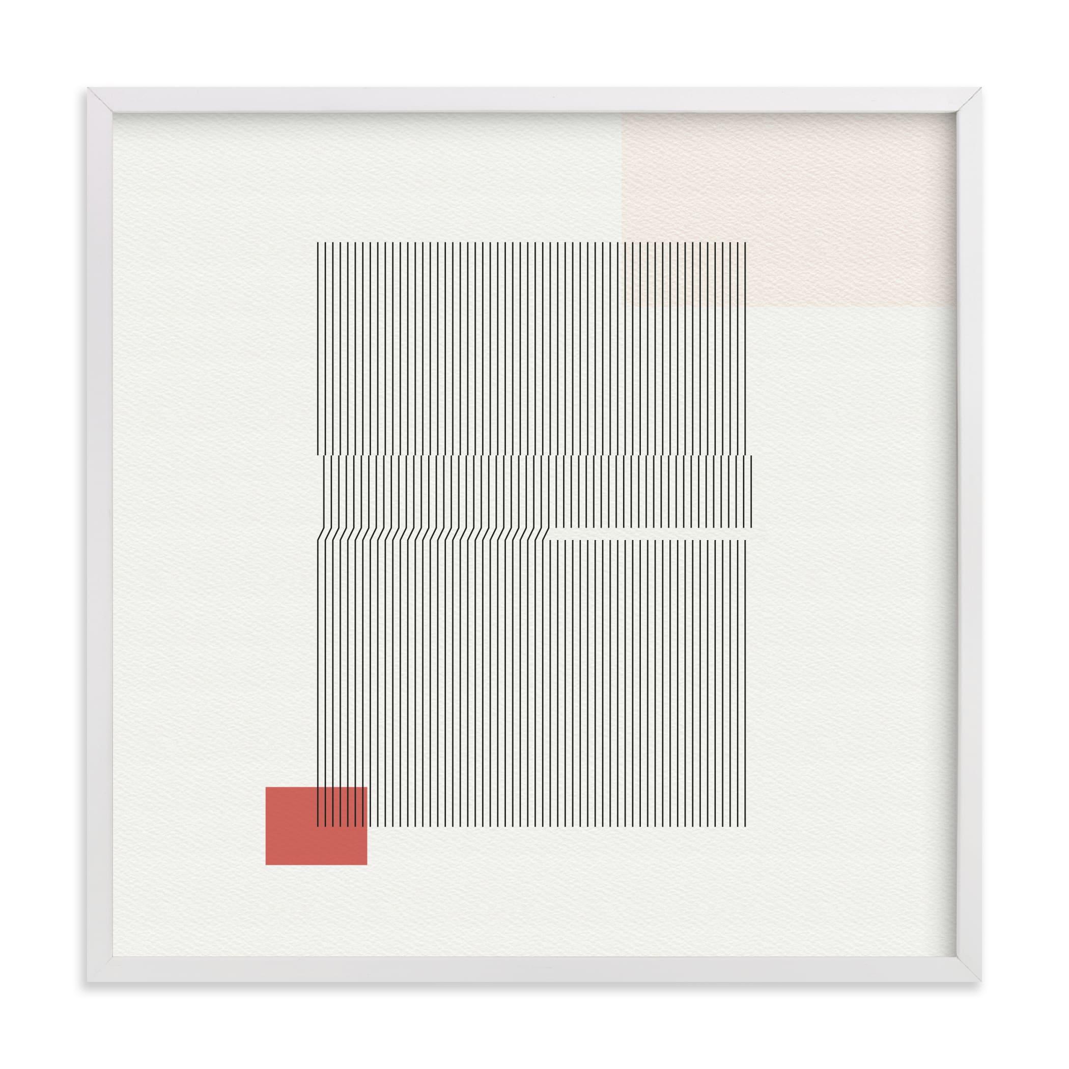 Folded Lines Art Print