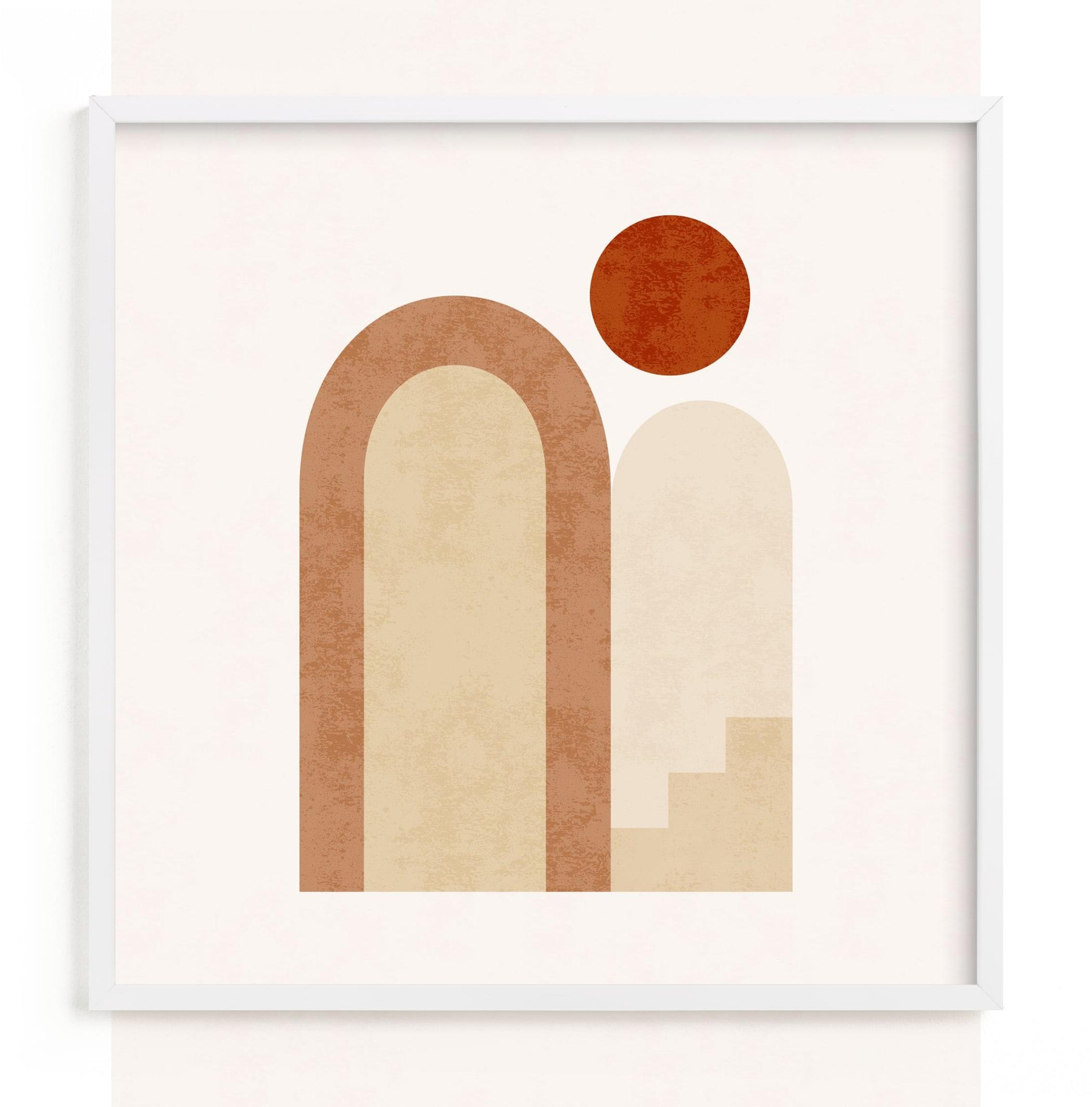 Rustic Geometry 2 Art Print
