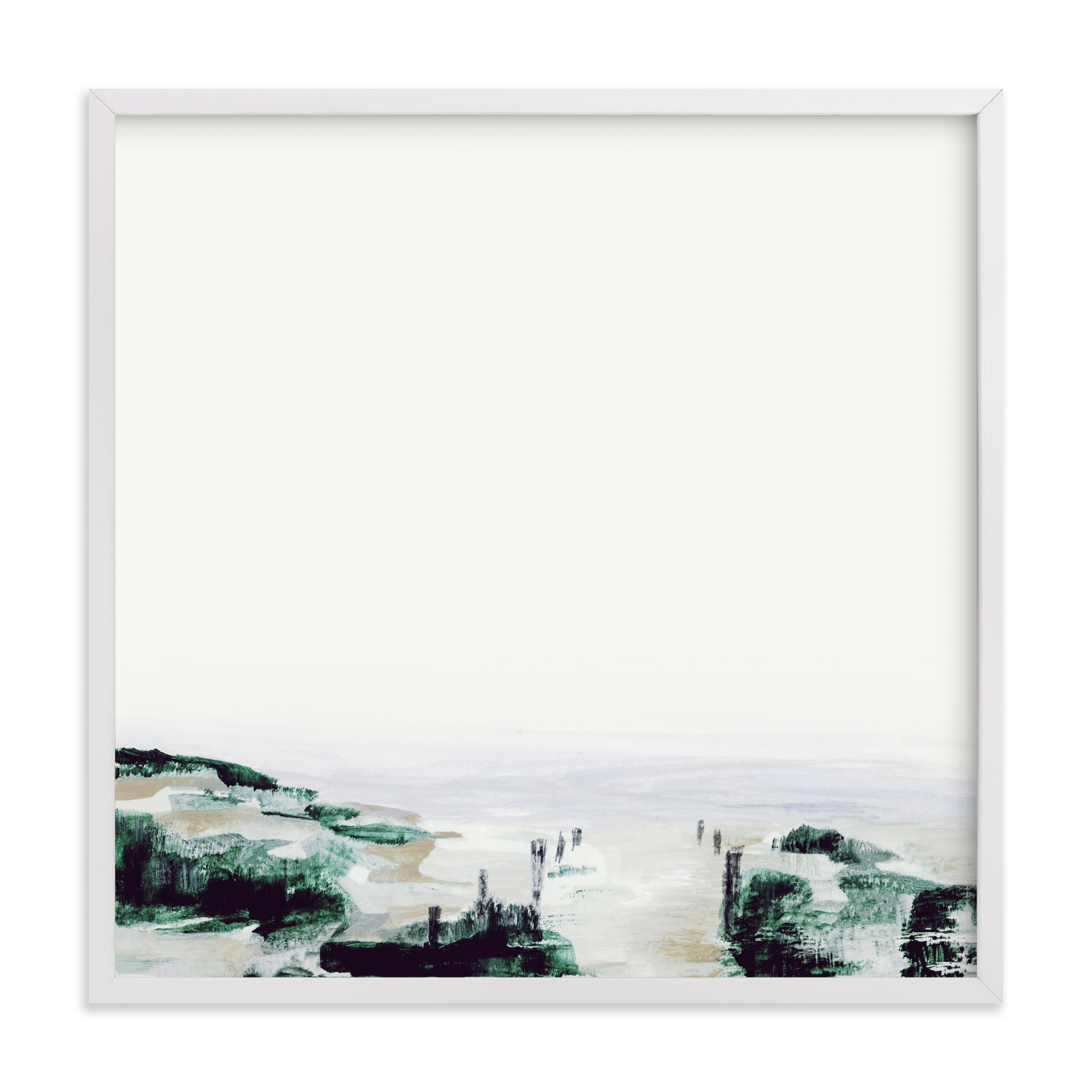 Abstract Landscape (Dark) Art Print