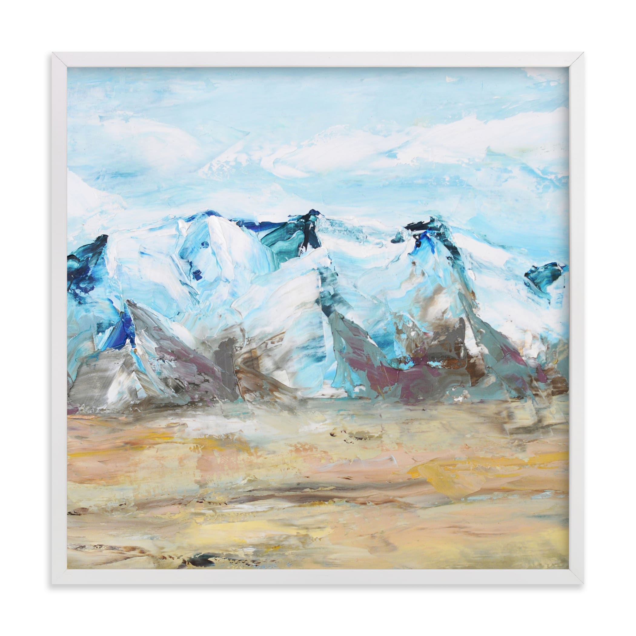 """""""Blue Mountain 1"""" - Limited Edition Art Print by Laura Morris in beautiful frame options and a variety of sizes."""