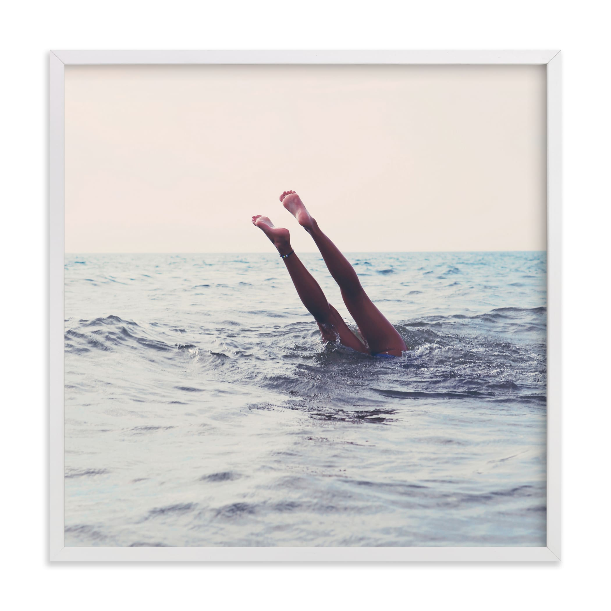 """Summer Handstand"" - Limited Edition Art Print by ALICIA BOCK in beautiful frame options and a variety of sizes."