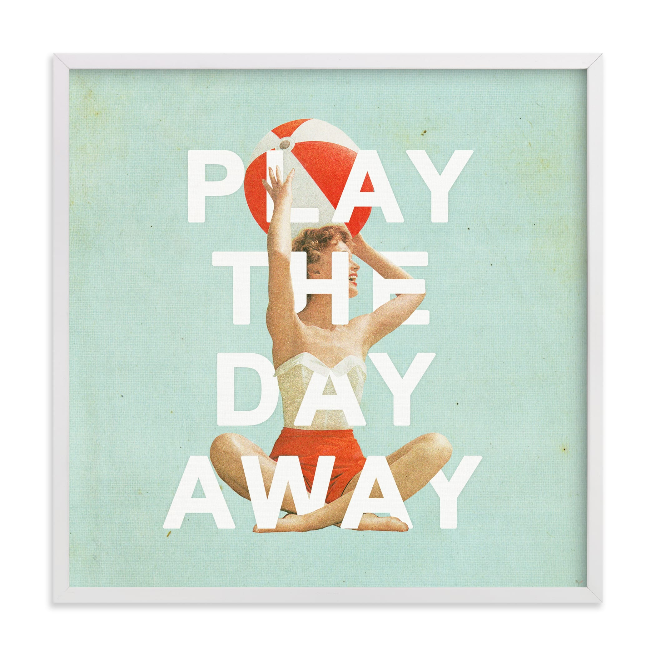 """Play The Day Away"" - Limited Edition Art Print by Heather Landis in beautiful frame options and a variety of sizes."