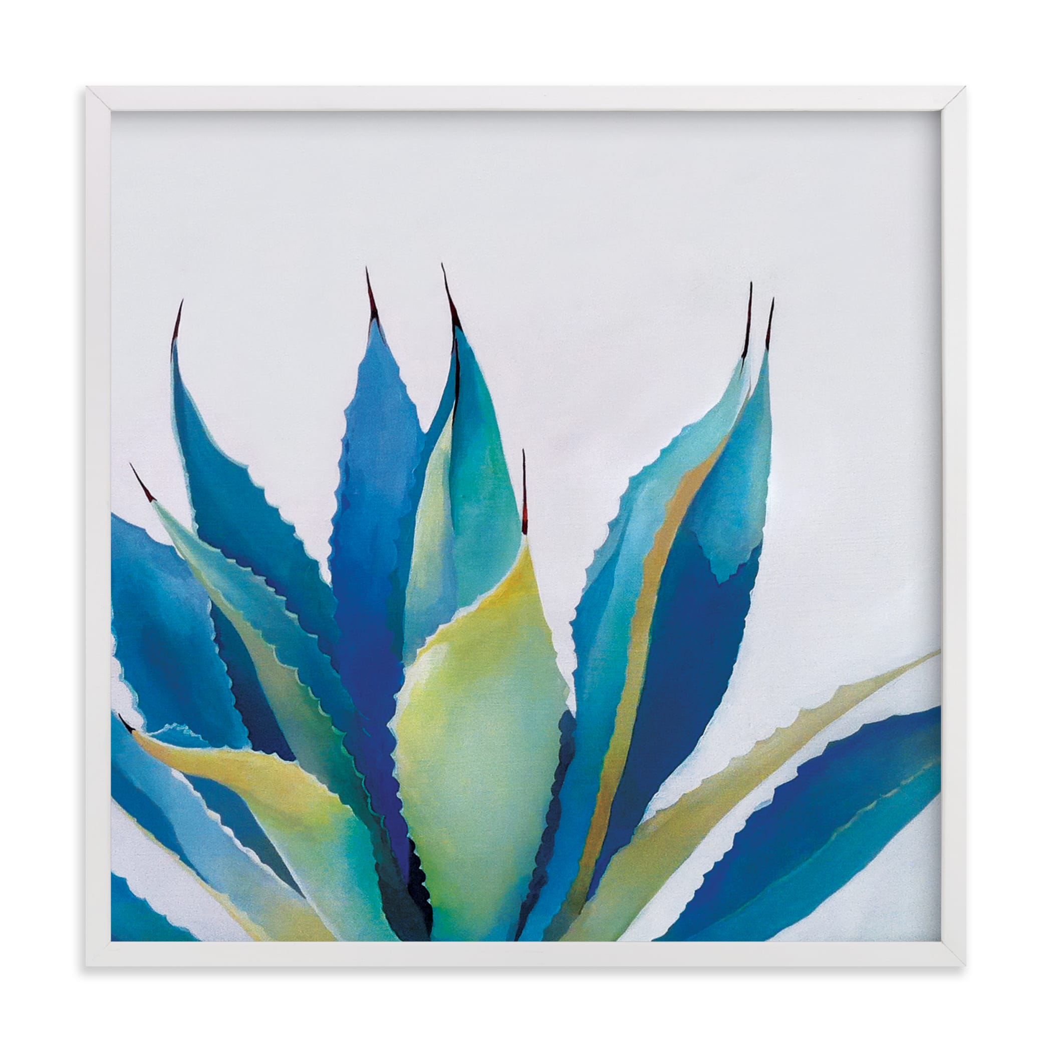 """Blue Agave"" - Grownup Open Edition Non-custom Art Print by Amanda Phelps in beautiful frame options and a variety of sizes."
