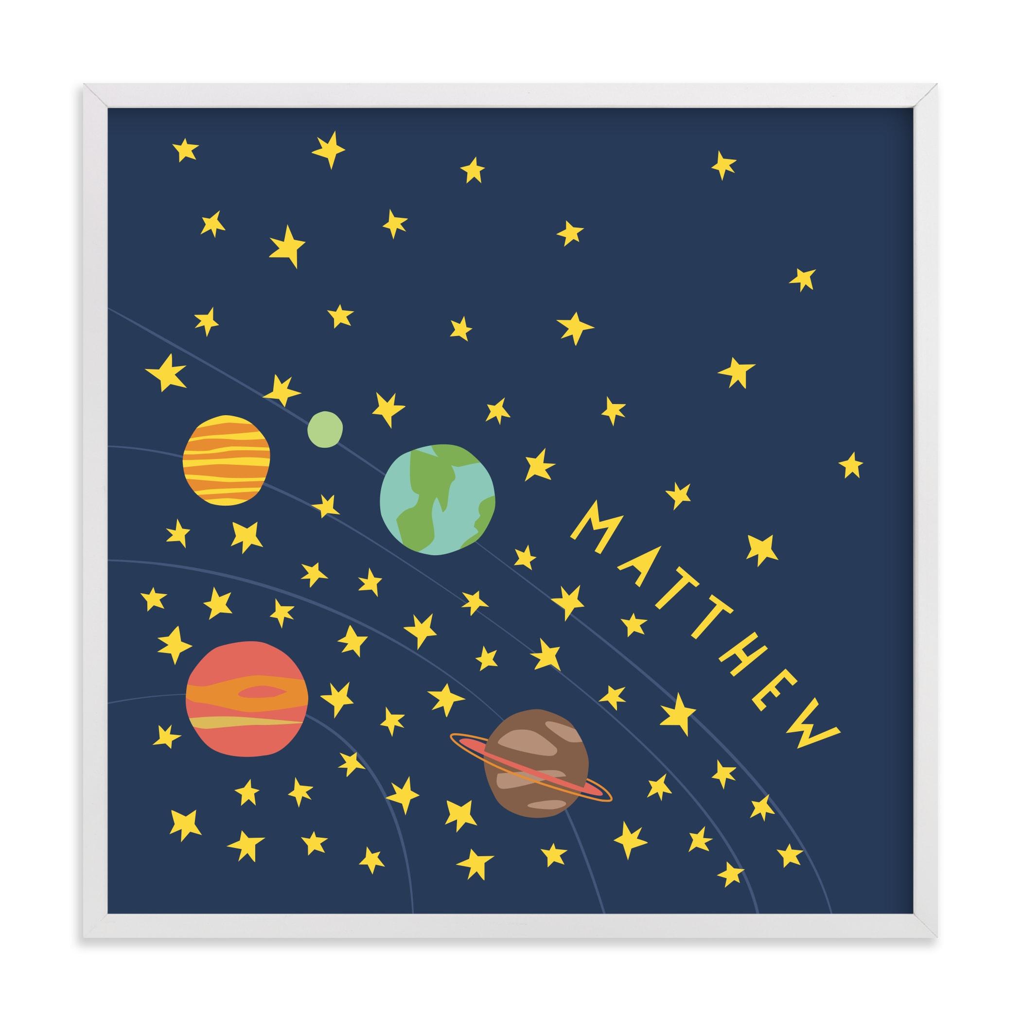 space case Children's Custom Art Print