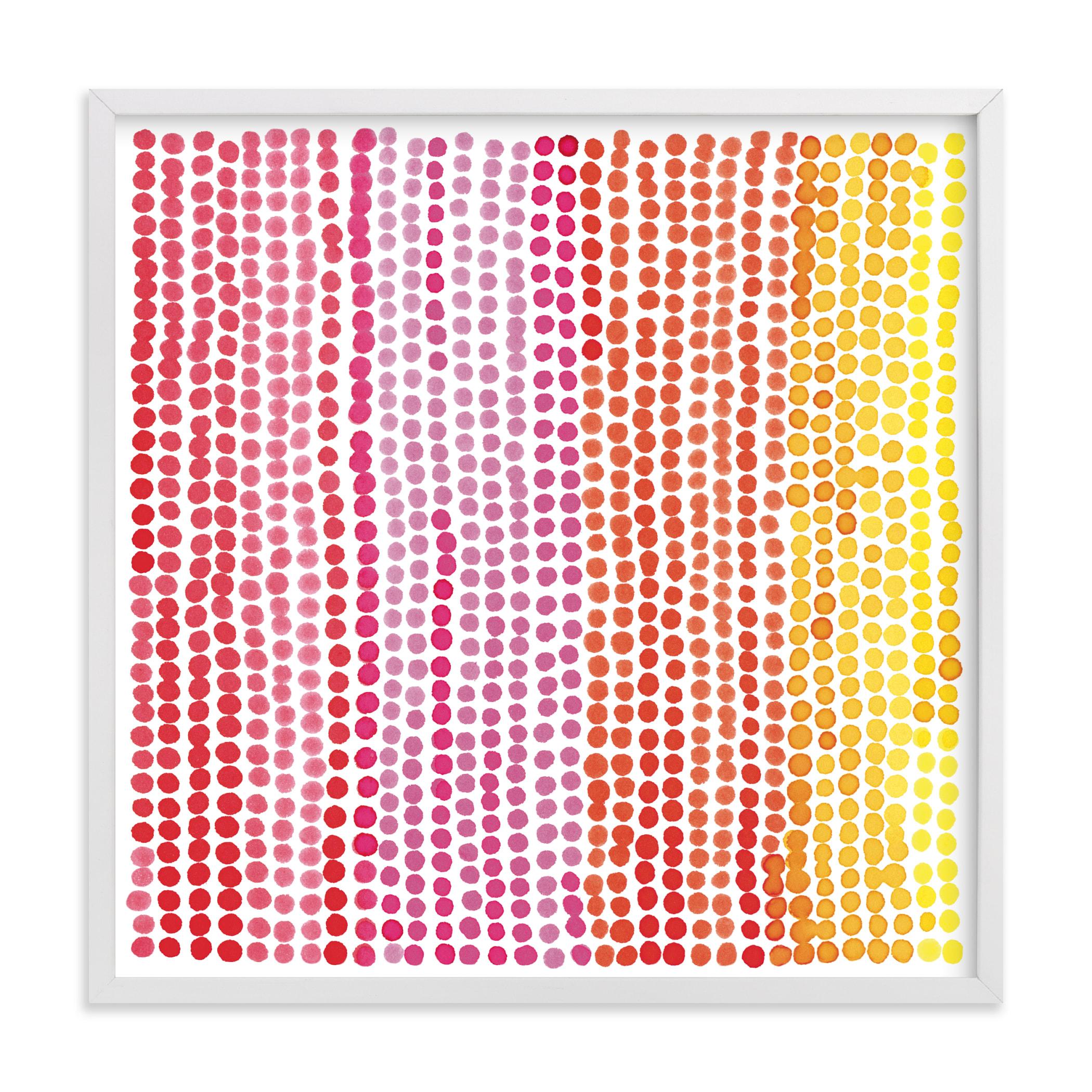 Rainbow Dots 1 Children's Art Print