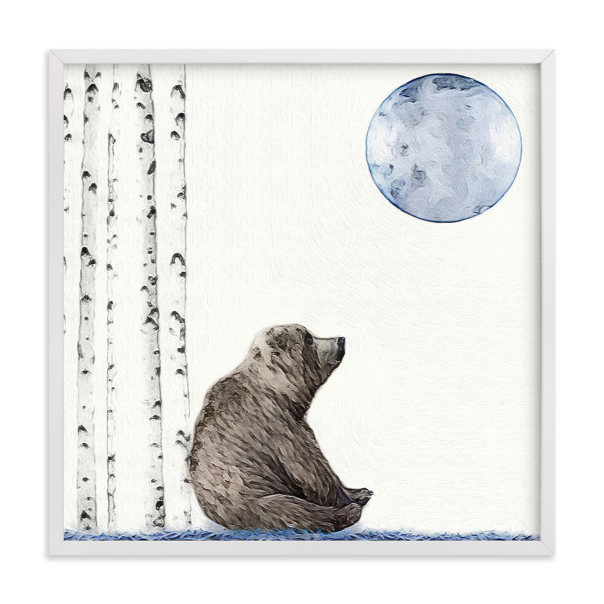 Once upon a blue moon Children's Art Print