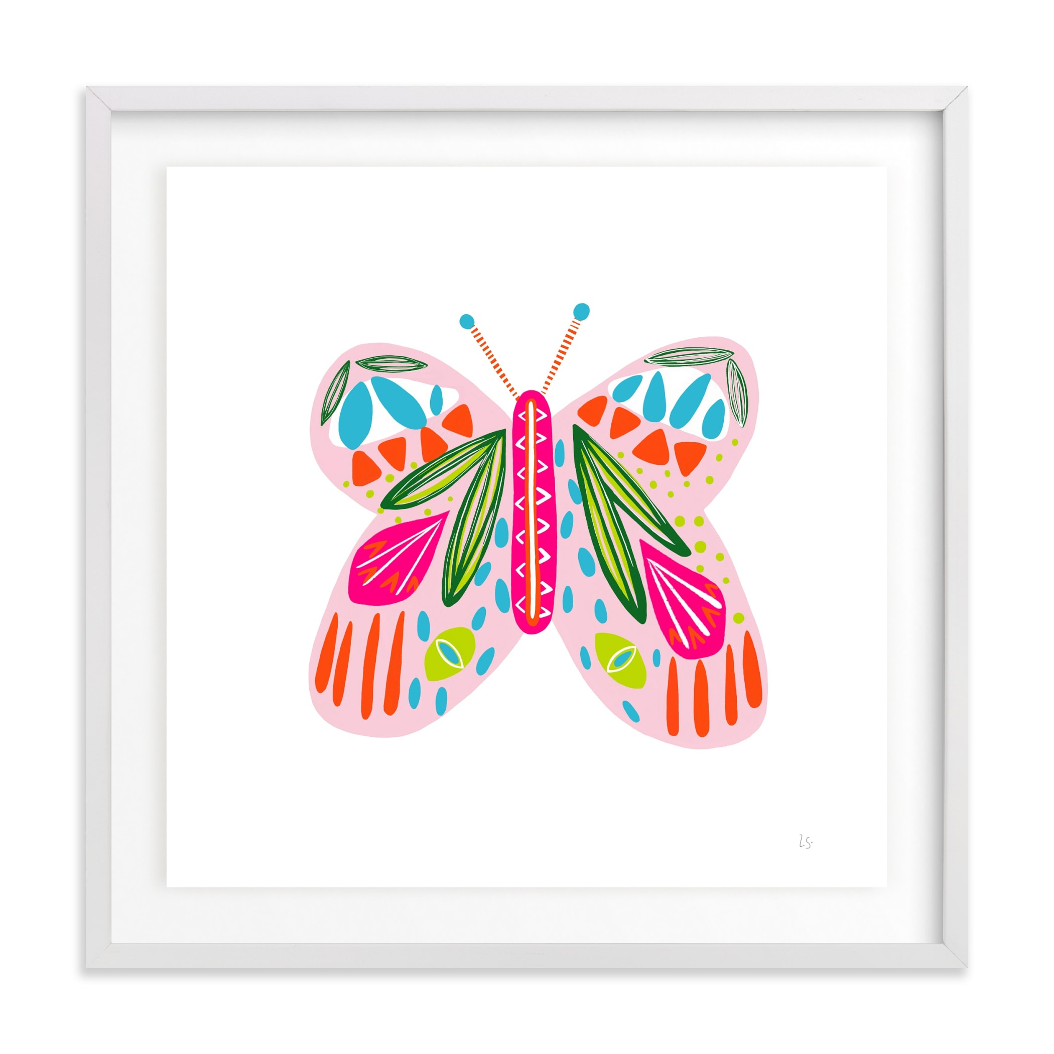 A Butterfly Children's Art Print