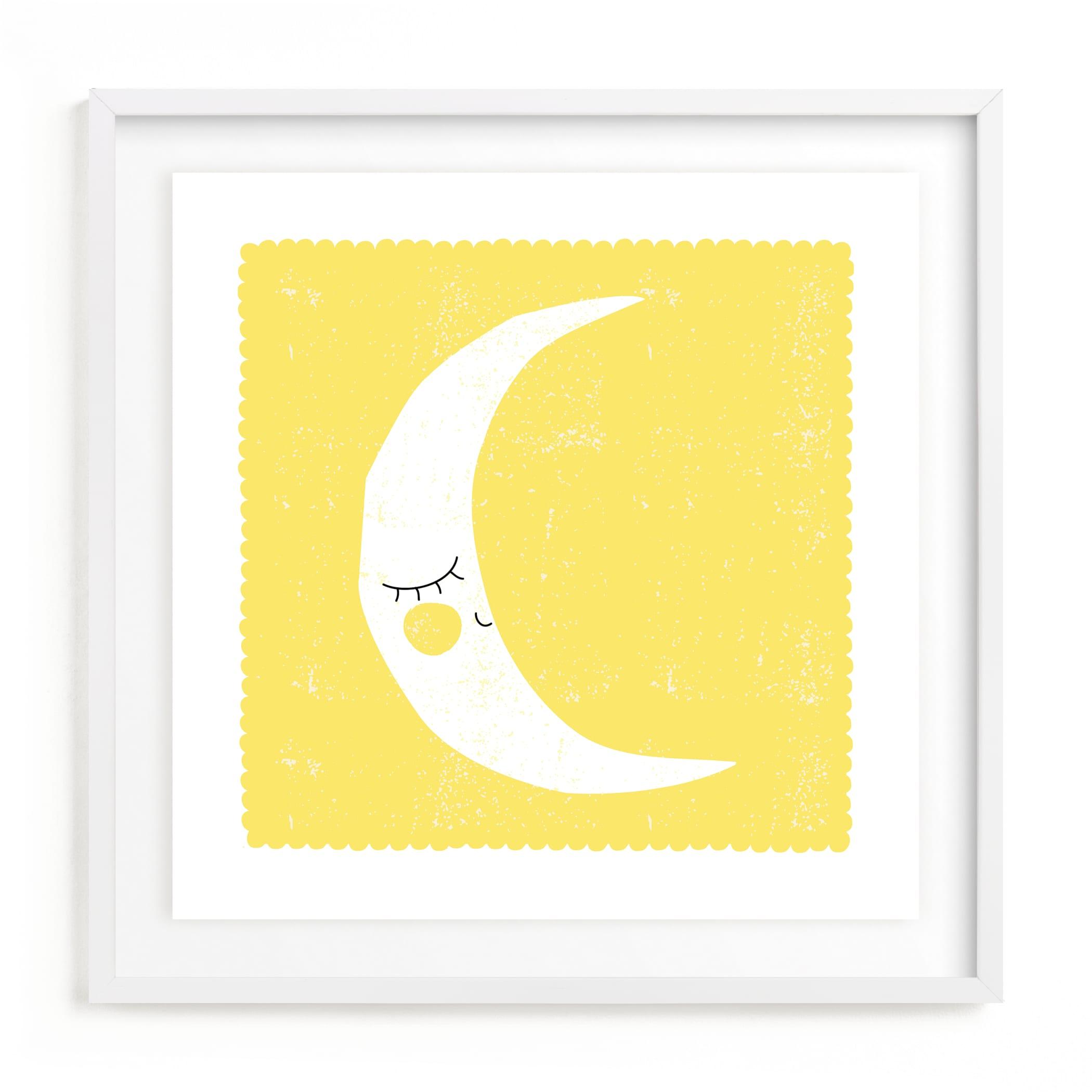 Sleepy Moon Kids Open Edition Non-Custom Art Print