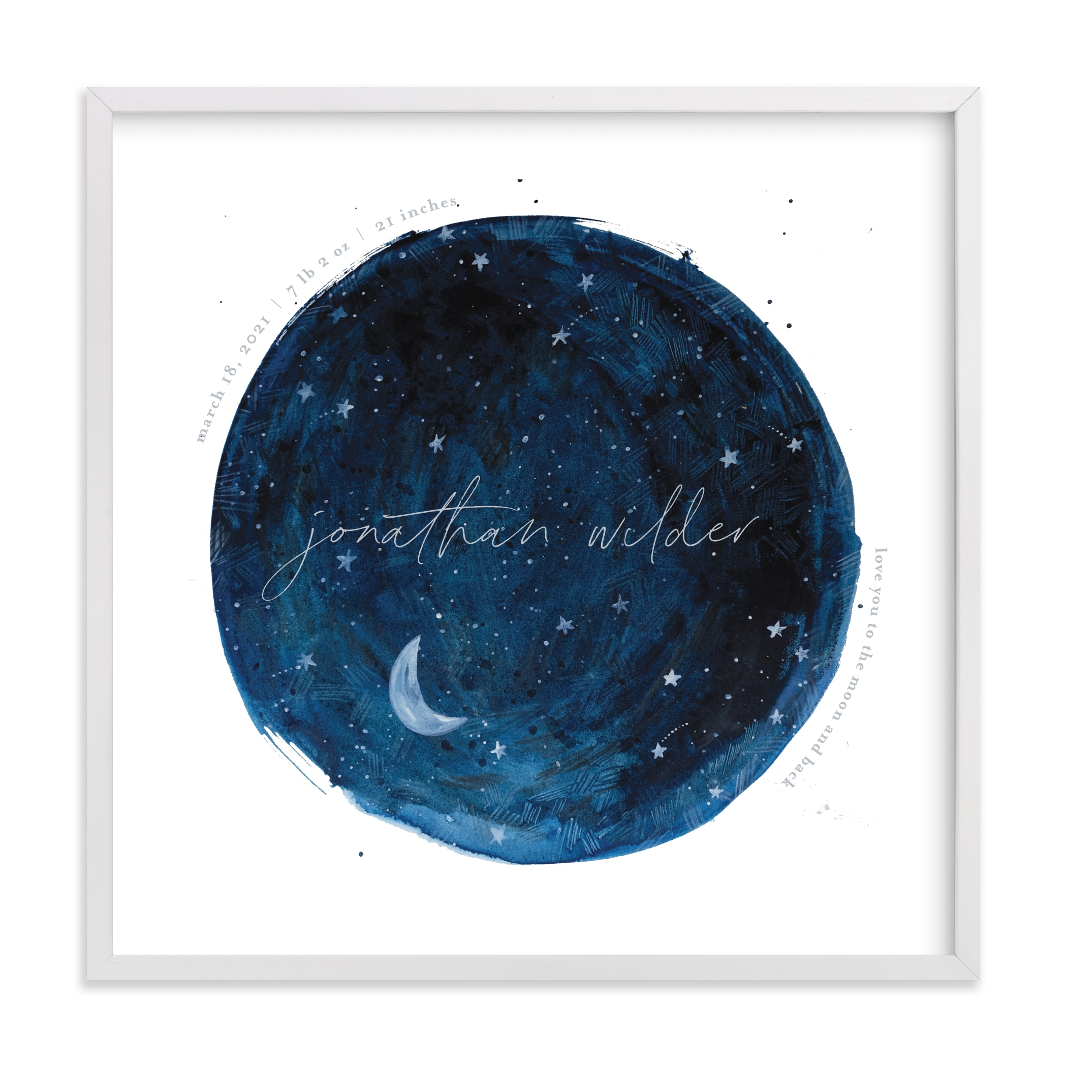 """""""Lunar"""" - Nursery Custom Art Print by Krissy Bengtson in beautiful frame options and a variety of sizes."""