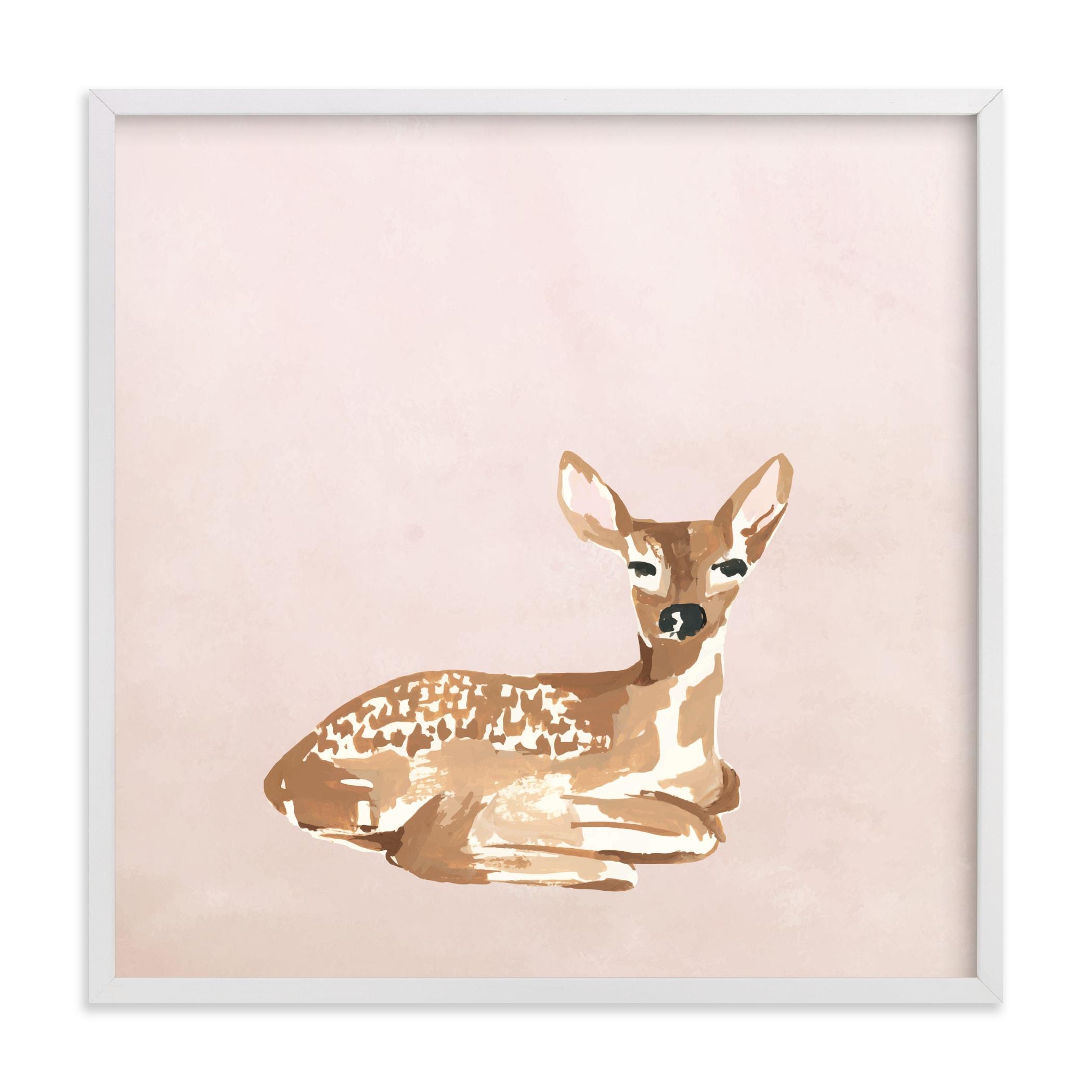 Enchanted Deer I Nursery Art Print
