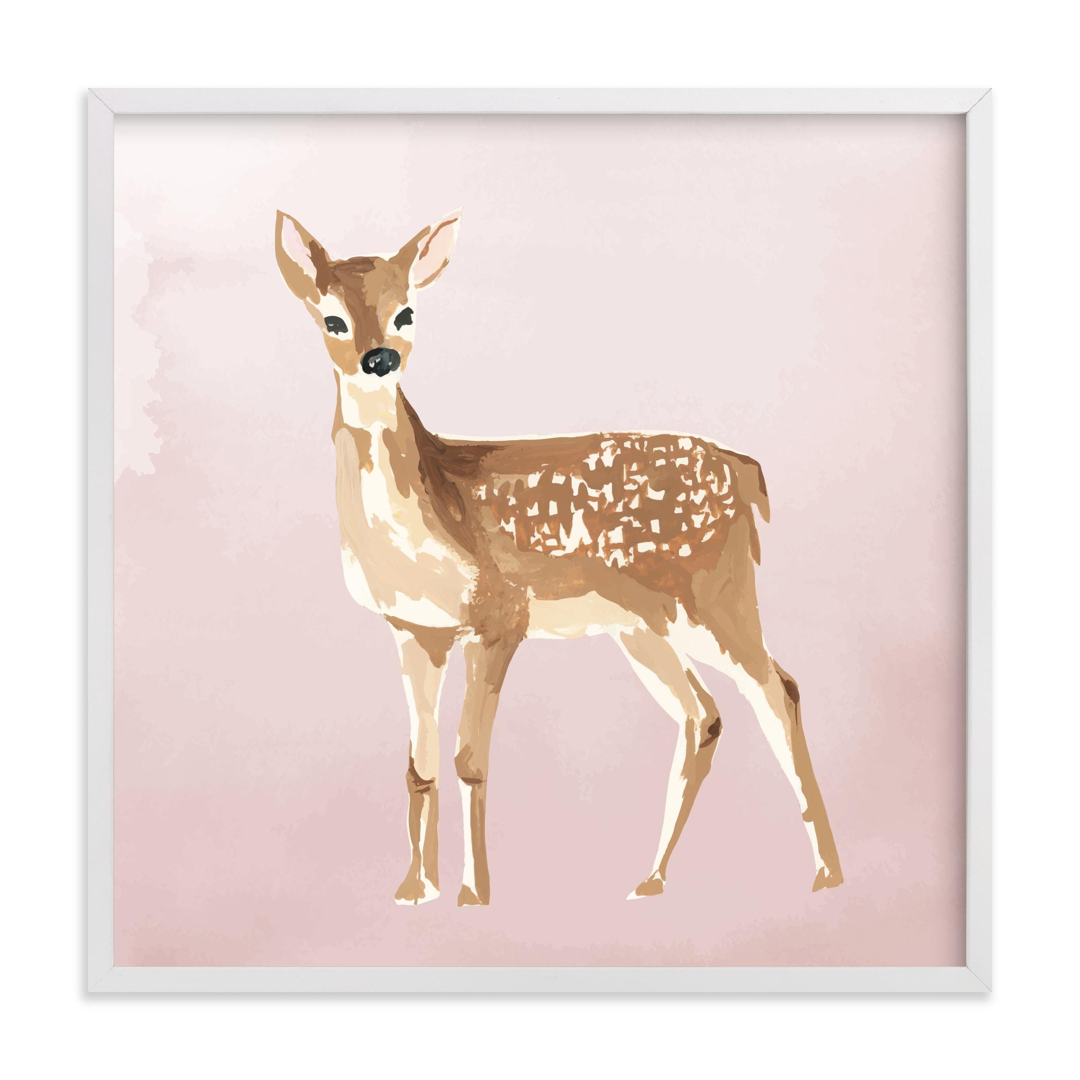 Enchanted Deer II Nursery Art Print