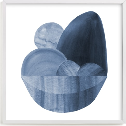 This is a blue art by Olivia Raufman called Precipice 2.
