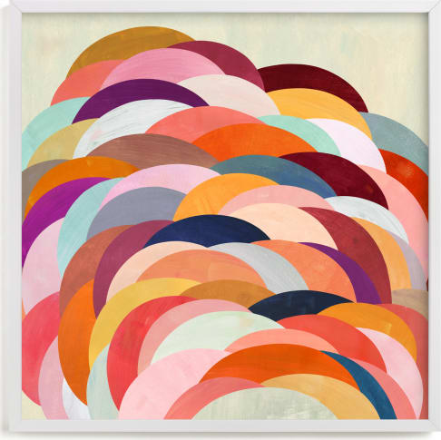 This is a colorful art by melanie mikecz called Discus.