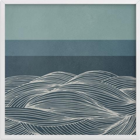 This is a blue art by Lucrecia called Deep Sea.