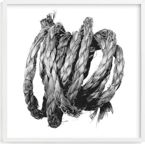 This is a black and white art by Lucas Wade called Loose Coil.
