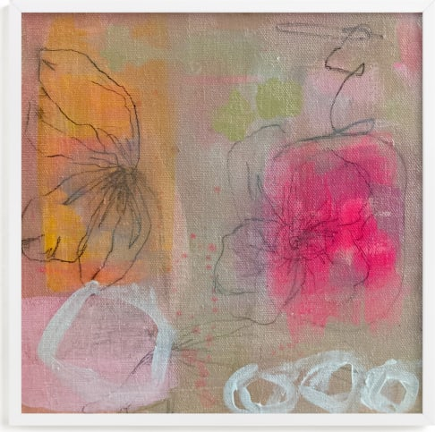 This is a pink art by Nicole Simms called Sherbet Garden.