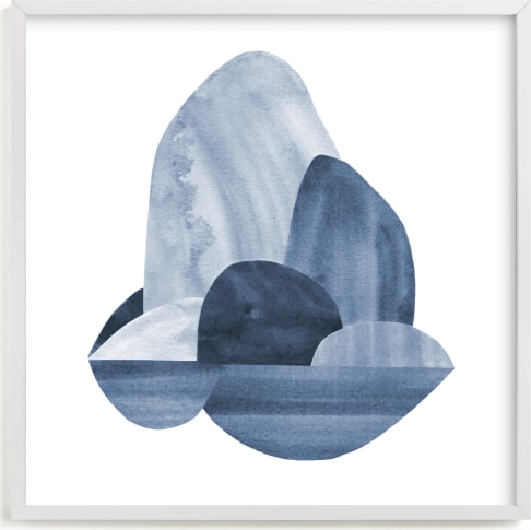 This is a blue art by Olivia Raufman called Precipice 1.