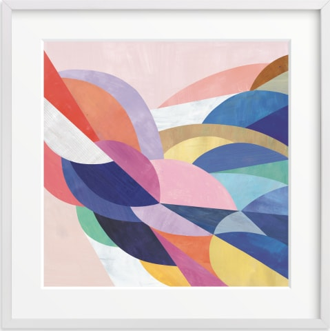 This is a colorful art by melanie mikecz called Architecture of Flow.