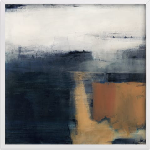 This is a blue art by Michelle Lee called Reaching Sky.