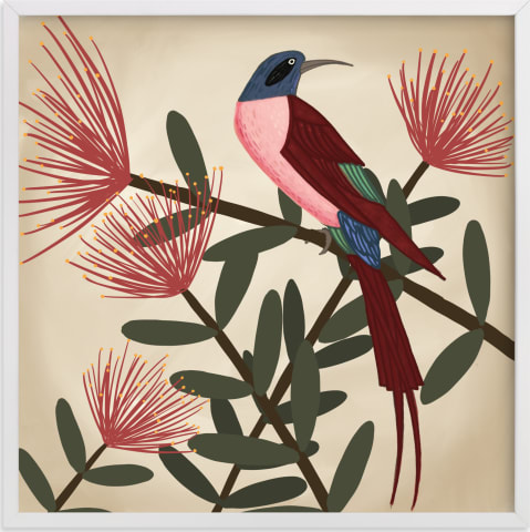This is a colorful art by Jessie Burch called Bee Eater.