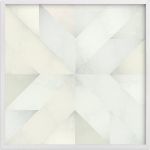 This is a white art by Leanne Friedberg called quilt block 03.