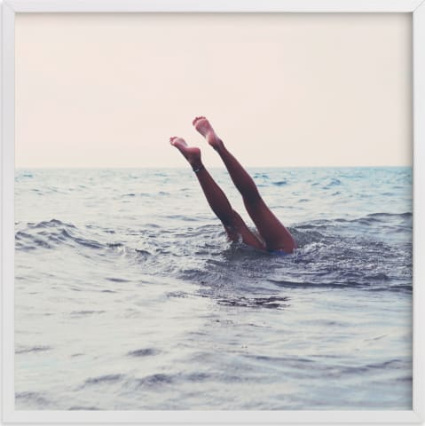 This is a blue art by ALICIA BOCK called Summer Handstand.