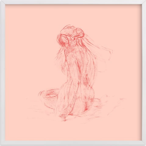 This is a pink art by Ramnik Velji called vaporeux deux.