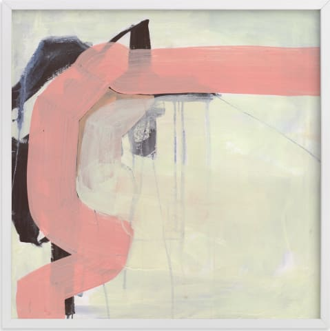This is a white art by Kirsta Niemie Benedetti called Pink Vibe.