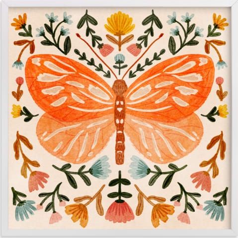 This is a colorful kids wall art by Angel Walker called Colorful Butterfly.