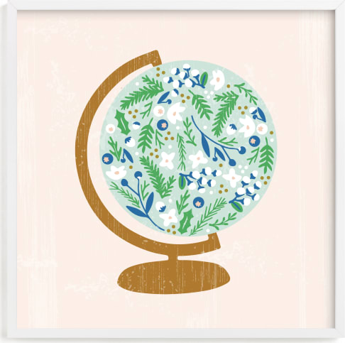 This is a blue kids wall art by Marabou Design called Global Flor.