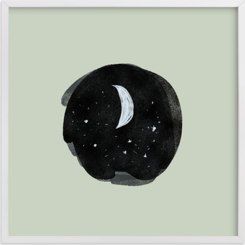 This is a black nursery wall art by Nancy Noreth called Little Moon.