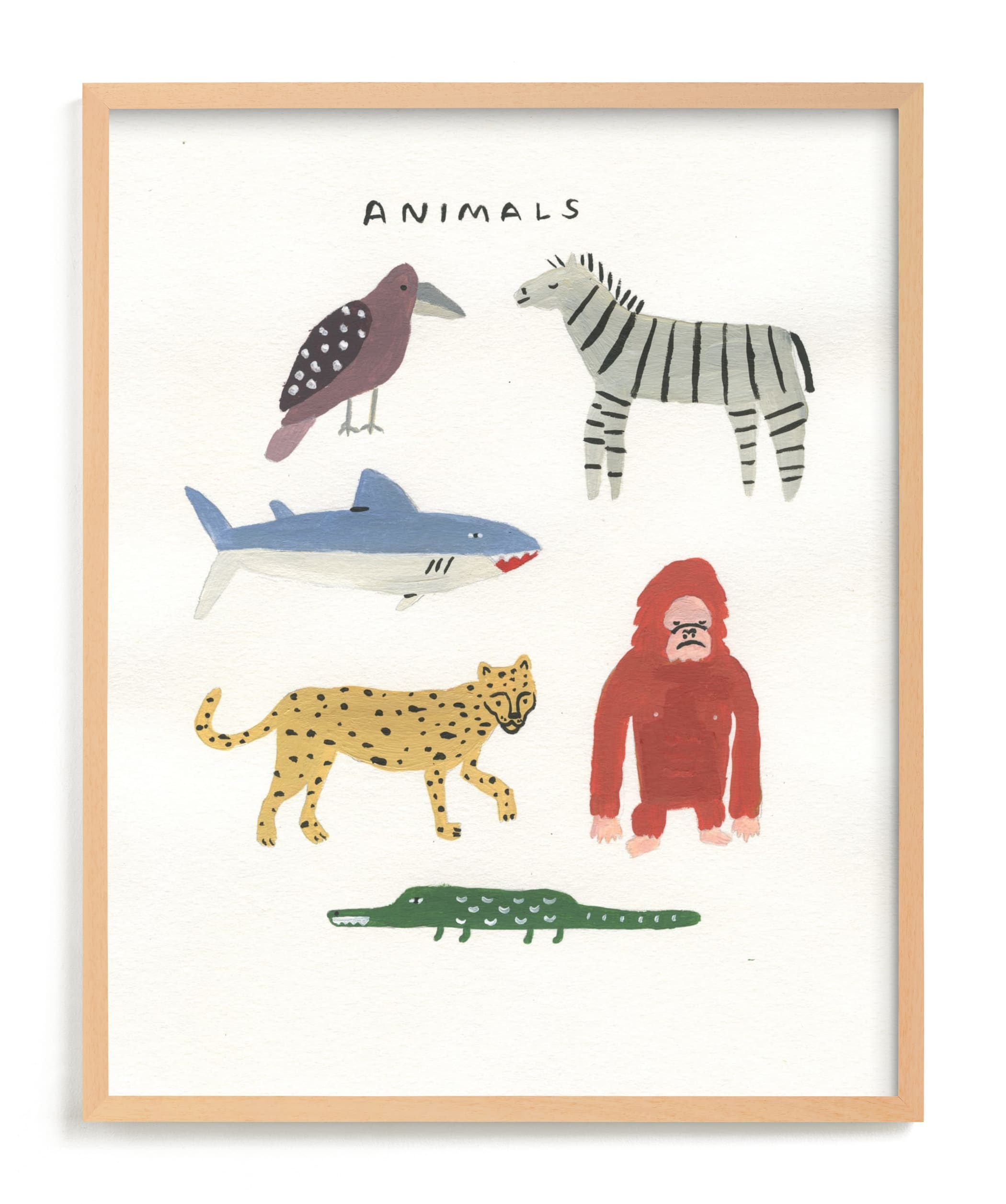 """""""Animal Kingdom"""" by Molly Mortensen in beautiful frame options and a variety of sizes."""