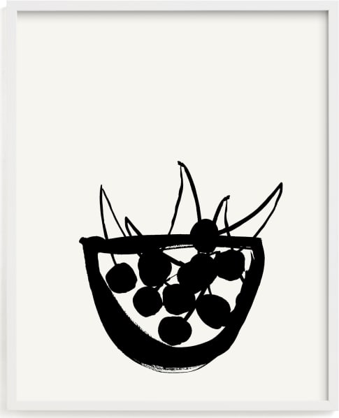 This is a black and white by Sonya Percival called Life is a bowl of cherries.