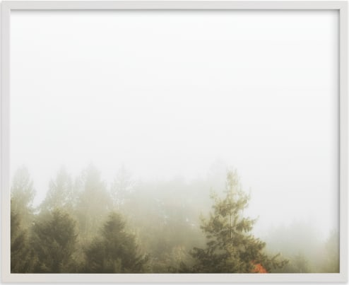 This is a grey by Katie Buckman called Foggy Autumn Forest Morning.