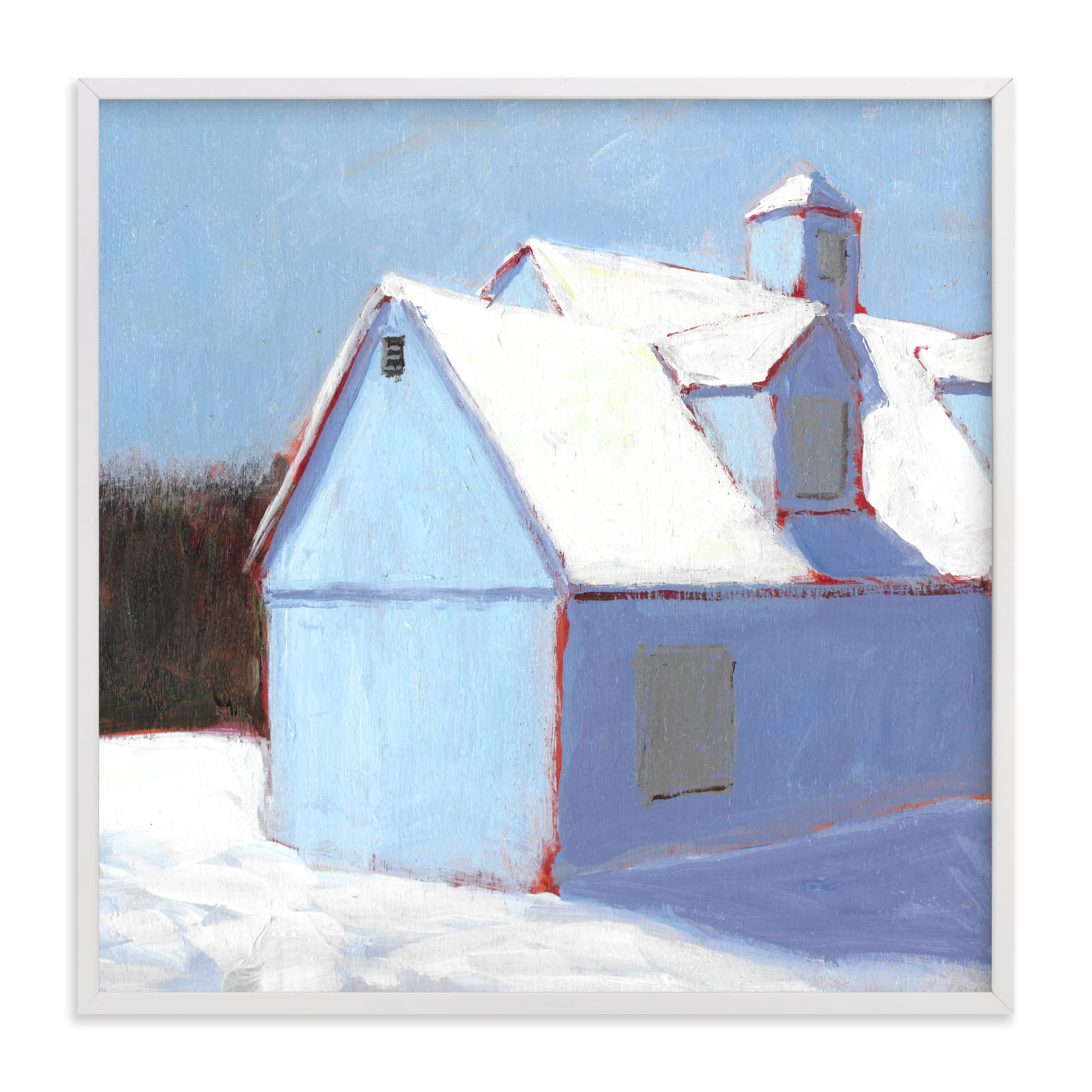 """Linen Snow"" - Limited Edition Art Print by Carol C. Young in beautiful frame options and a variety of sizes."