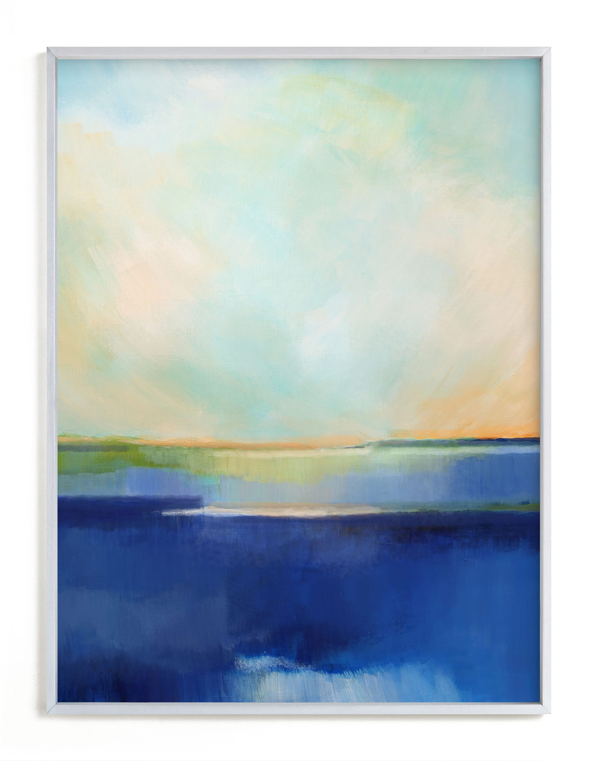 """""""Blue Waterfall"""" - Art Print by Alison Jerry Designs in beautiful frame options and a variety of sizes."""