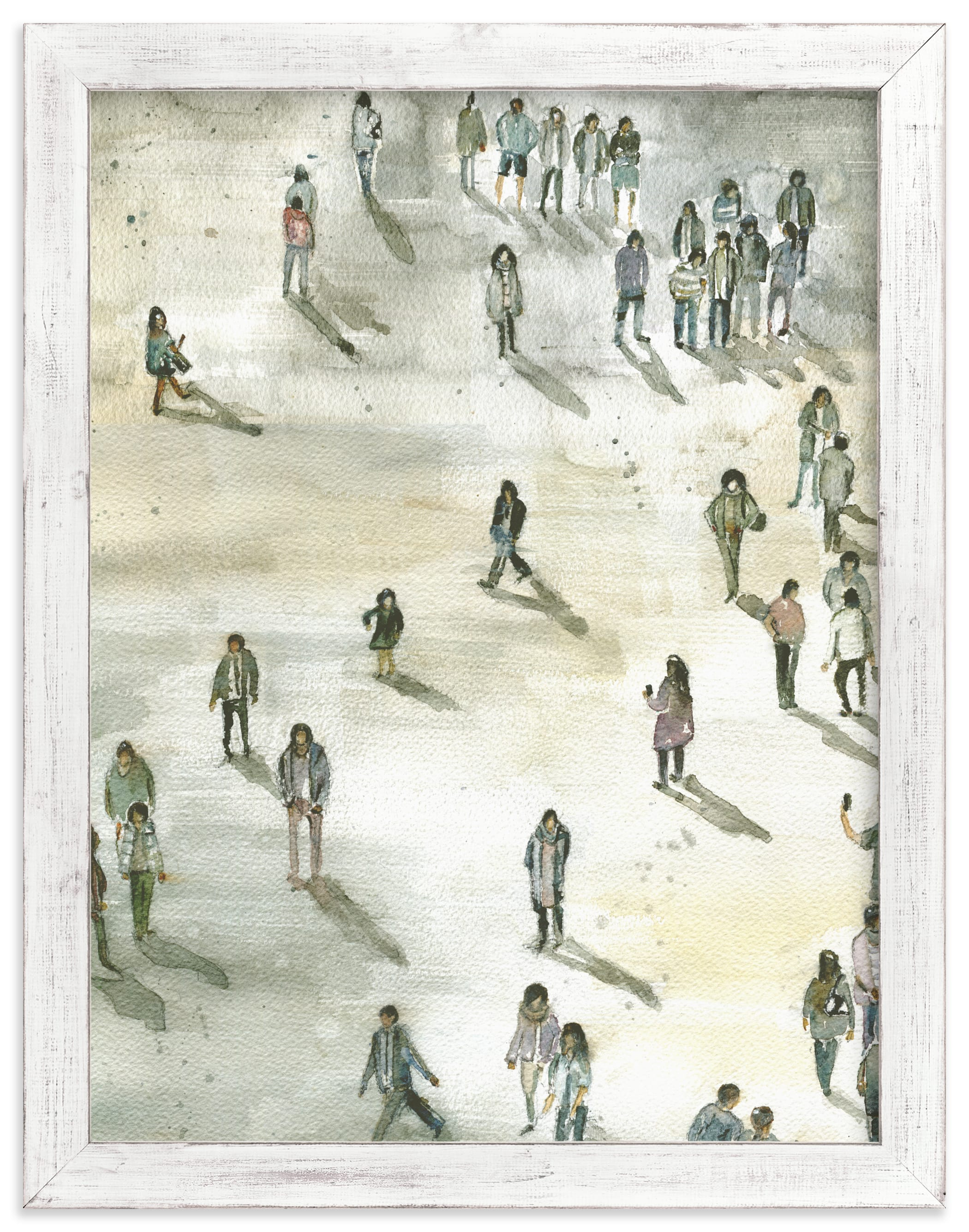 """""""Berlin at midday"""" - Limited Edition Art Print by Lulaloo in beautiful frame options and a variety of sizes."""